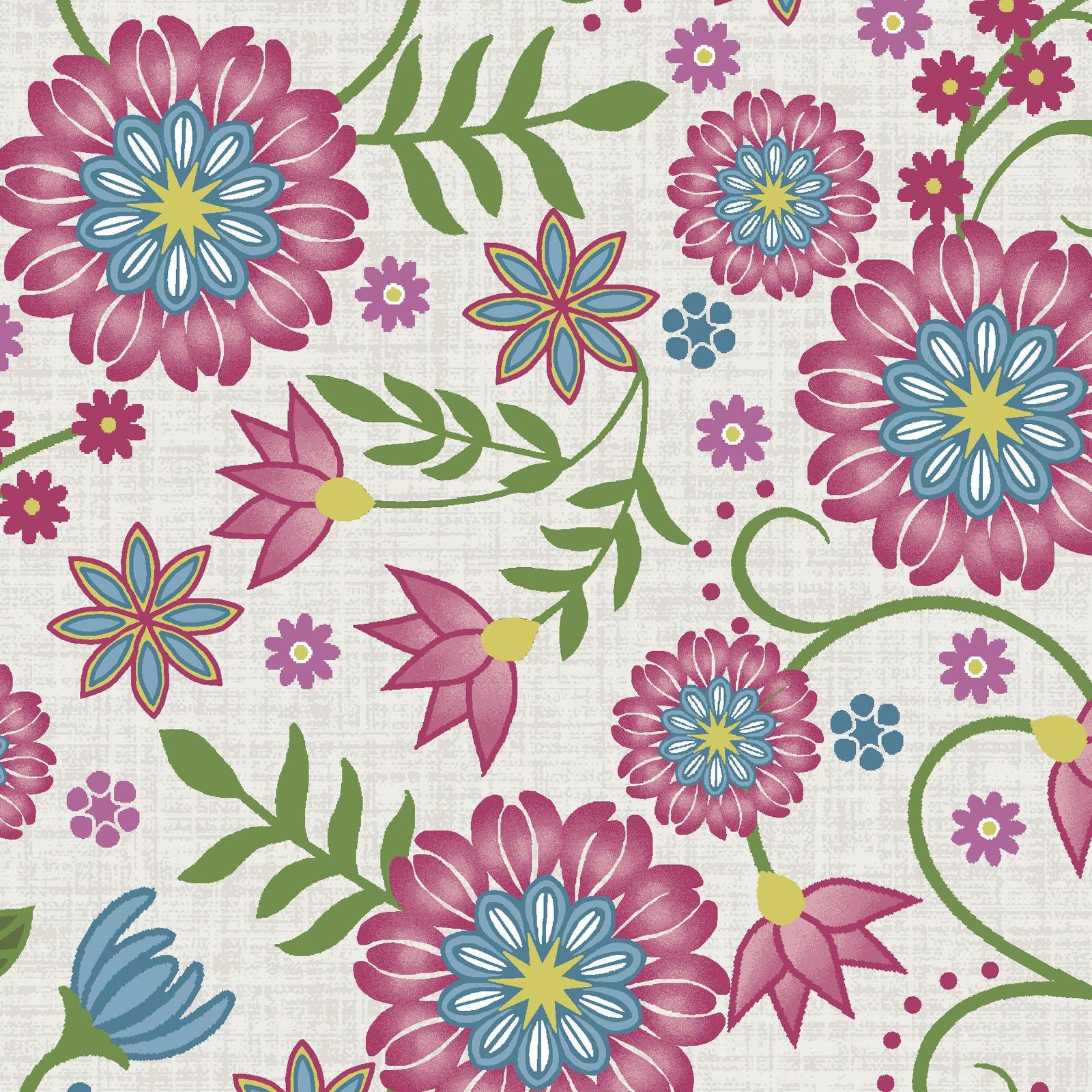 EESC-9880 E - FLOWER & VINE BY MONIQUE JACOBS FLOWER & VINE CREAM - AVAILABLE TO ORDER