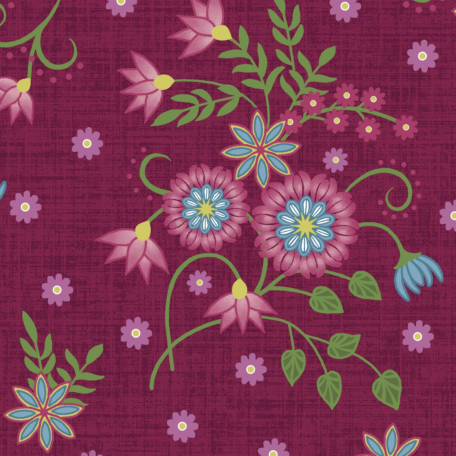 EESC-9881 R - FLOWER & VINE BY MONIQUE JACOBS FLORAL ALLOVER RED - ARRIVING MARCH 2021