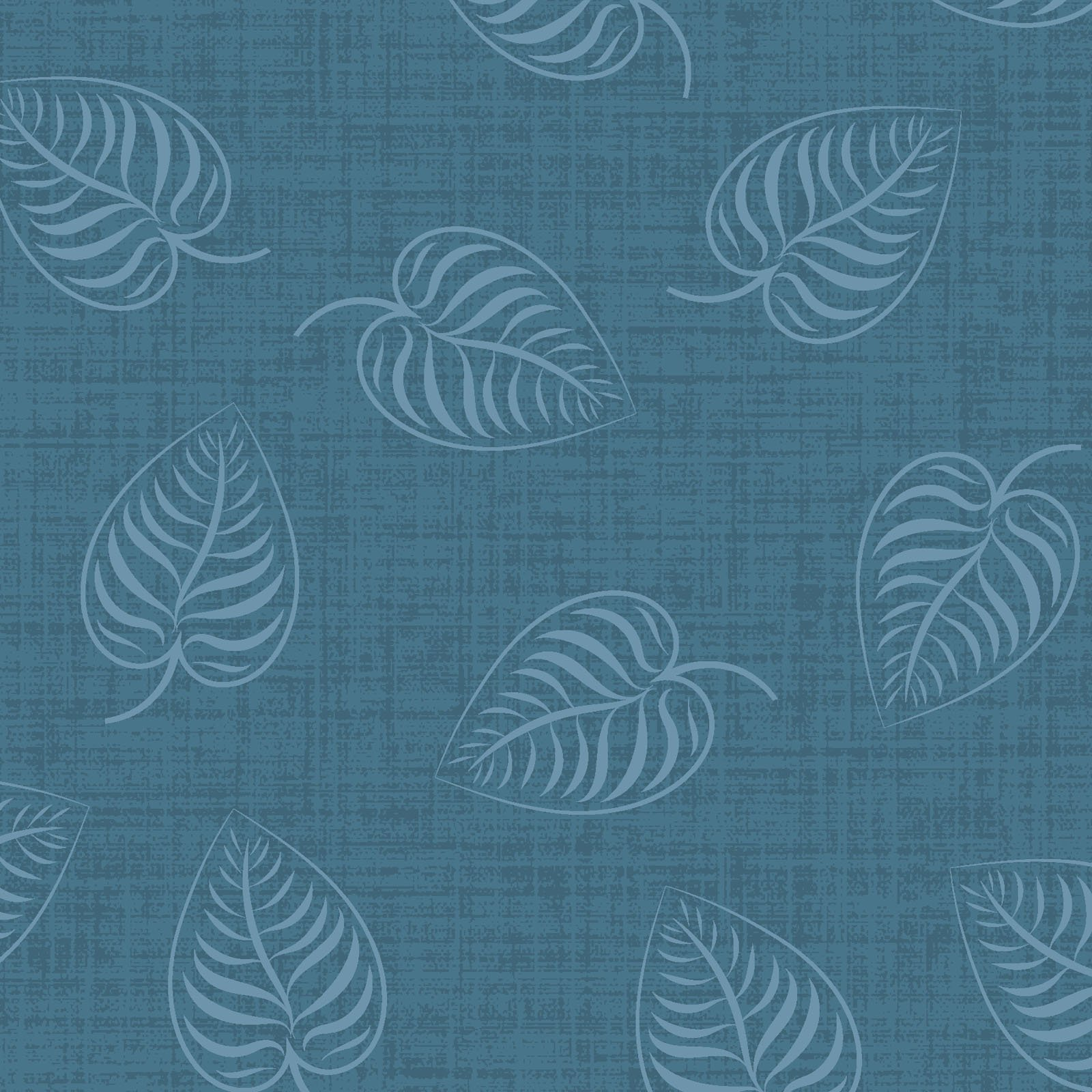EESC-9883 B - FLOWER & VINE BY MONIQUE JACOBS LEAFPRINT BLUE - AVAILABLE TO ORDER