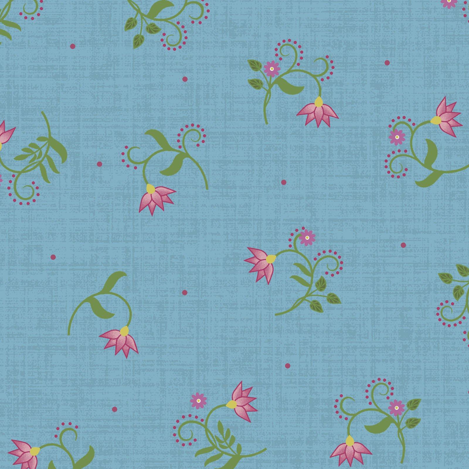 EESC-9884 B - FLOWER & VINE BY MONIQUE JACOBS FLOWER TULIP BLUE - ARRIVING MARCH 2021
