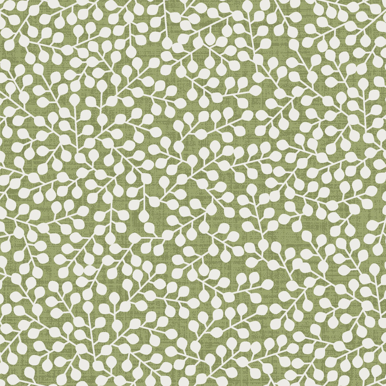 EESC-9887 G - FLOWER & VINE BY MONIQUE JACOBS BERRIES GREEN - AVAILABLE TO ORDER