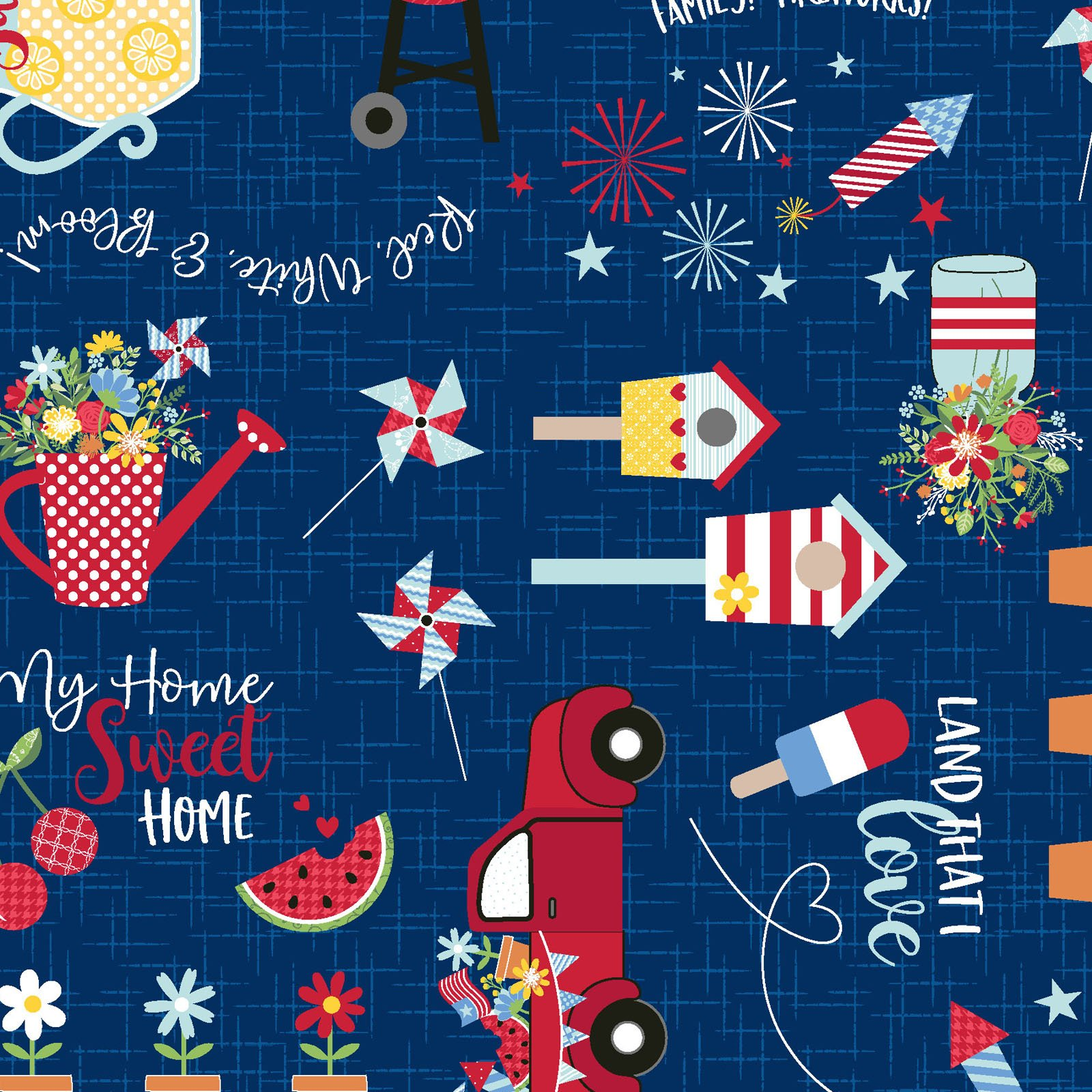 EESC-9901 N - RED, WHITE & BLOOM BY KIMBERBELL GRAFFITI MULTI NAVY - ARRIVING MARCH 2021
