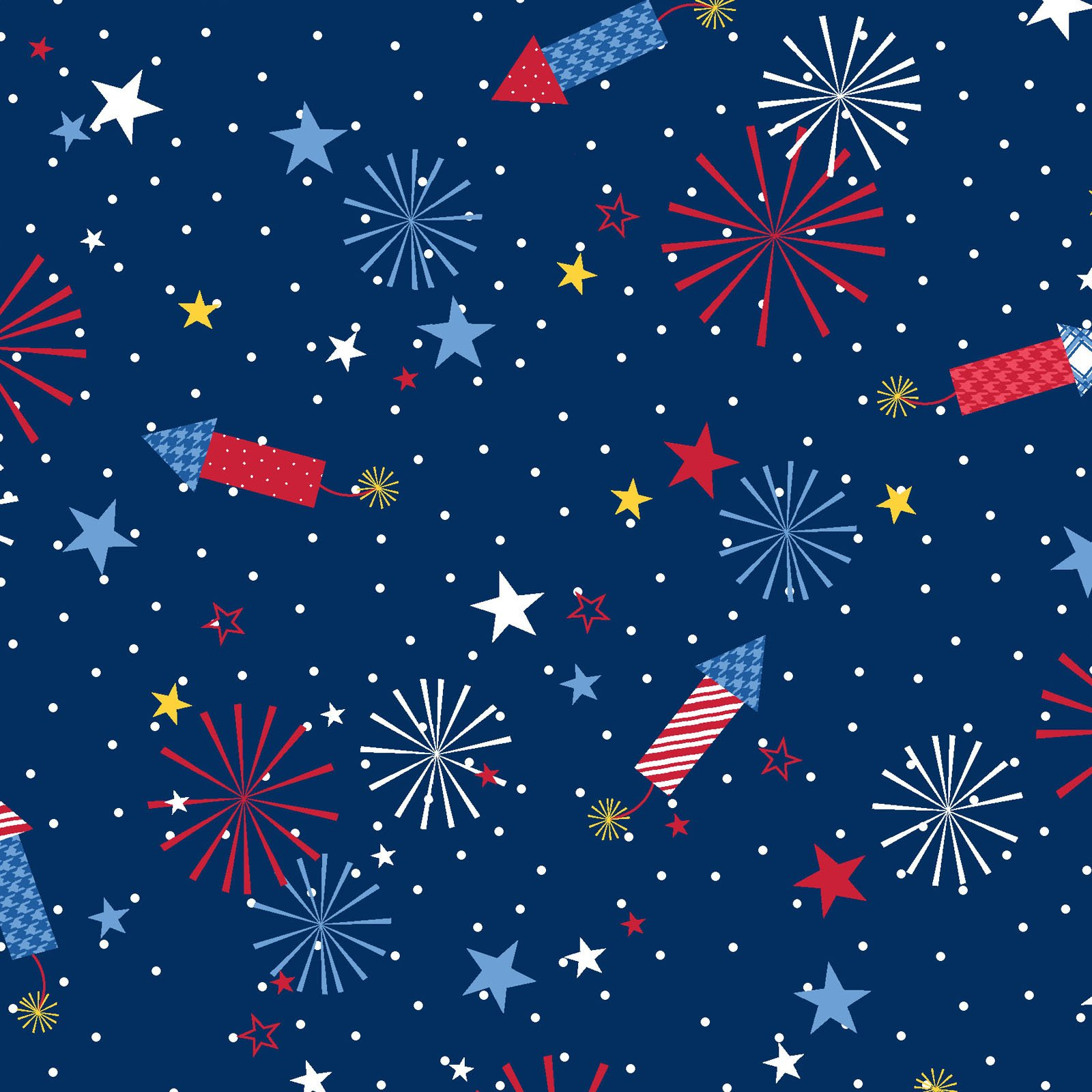 EESC-9903 N - RED, WHITE & BLOOM BY KIMBERBELL FIREWORKS NAVY - ARRIVING MARCH 2021