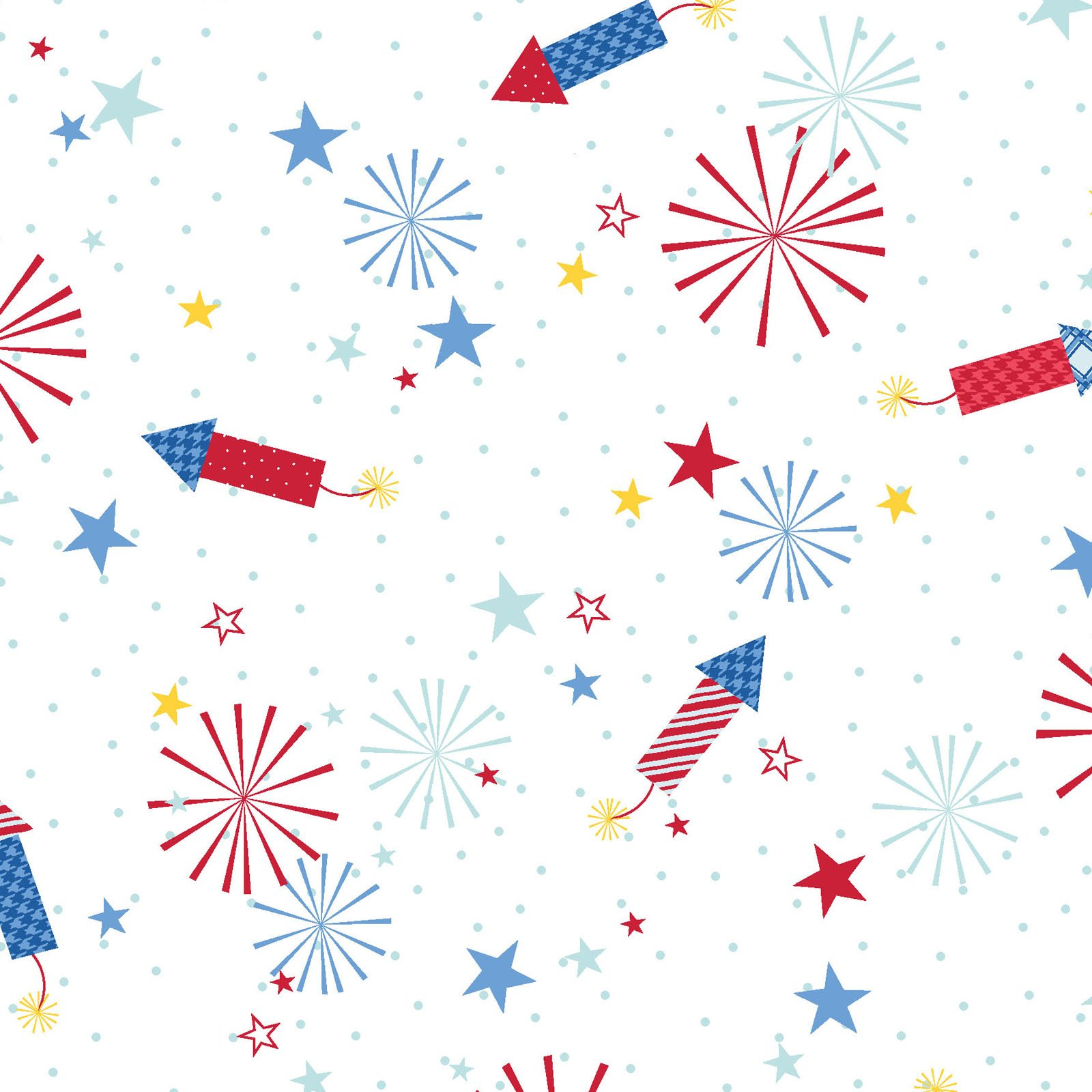 EESC-9903 W - RED, WHITE & BLOOM BY KIMBERBELL FIREWORKS WHITE - ARRIVING MARCH 2021