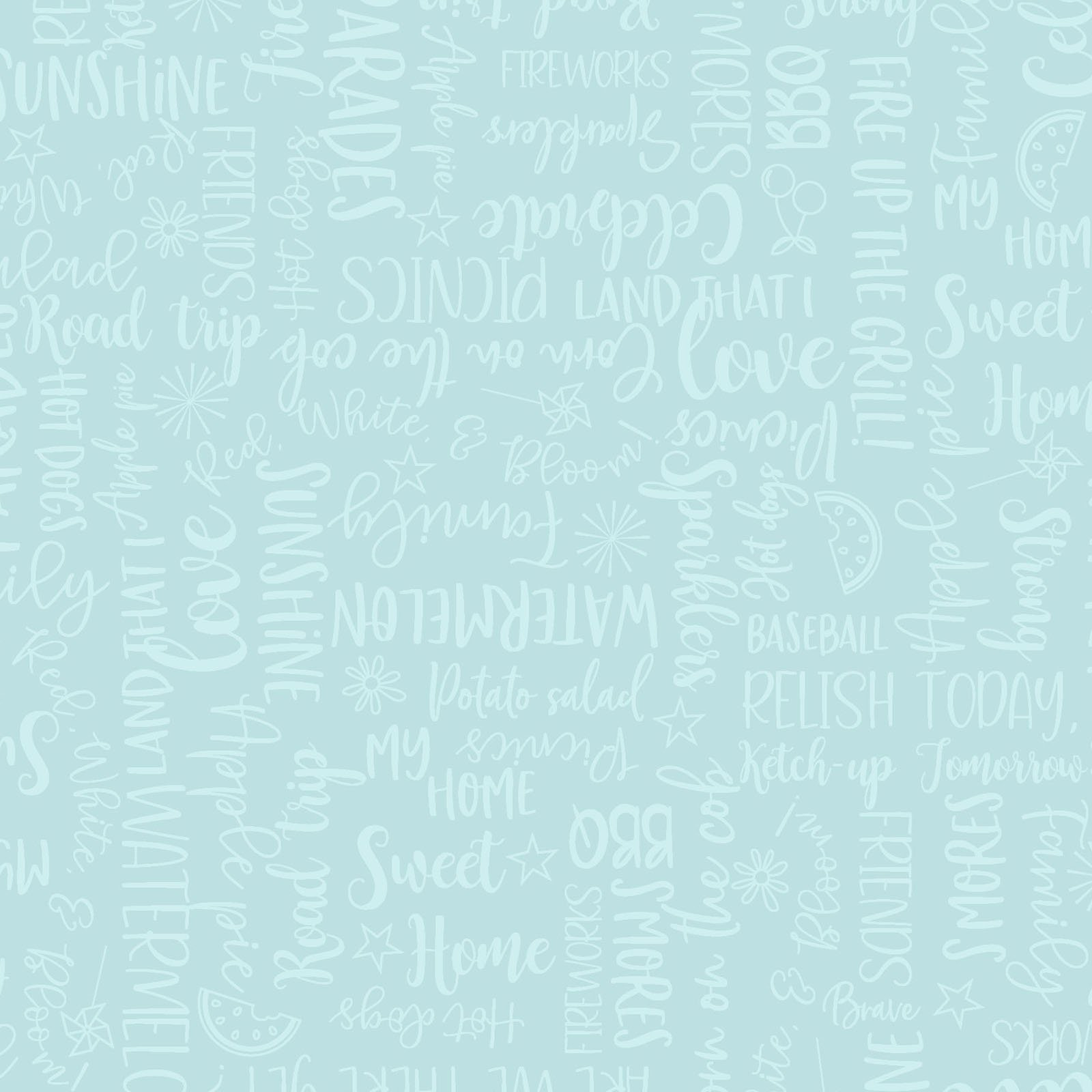 EESC-9907 Q - RED, WHITE & BLOOM BY KIMBERBELL WORDY WORDS AQUA - ARRIVING MARCH 2021