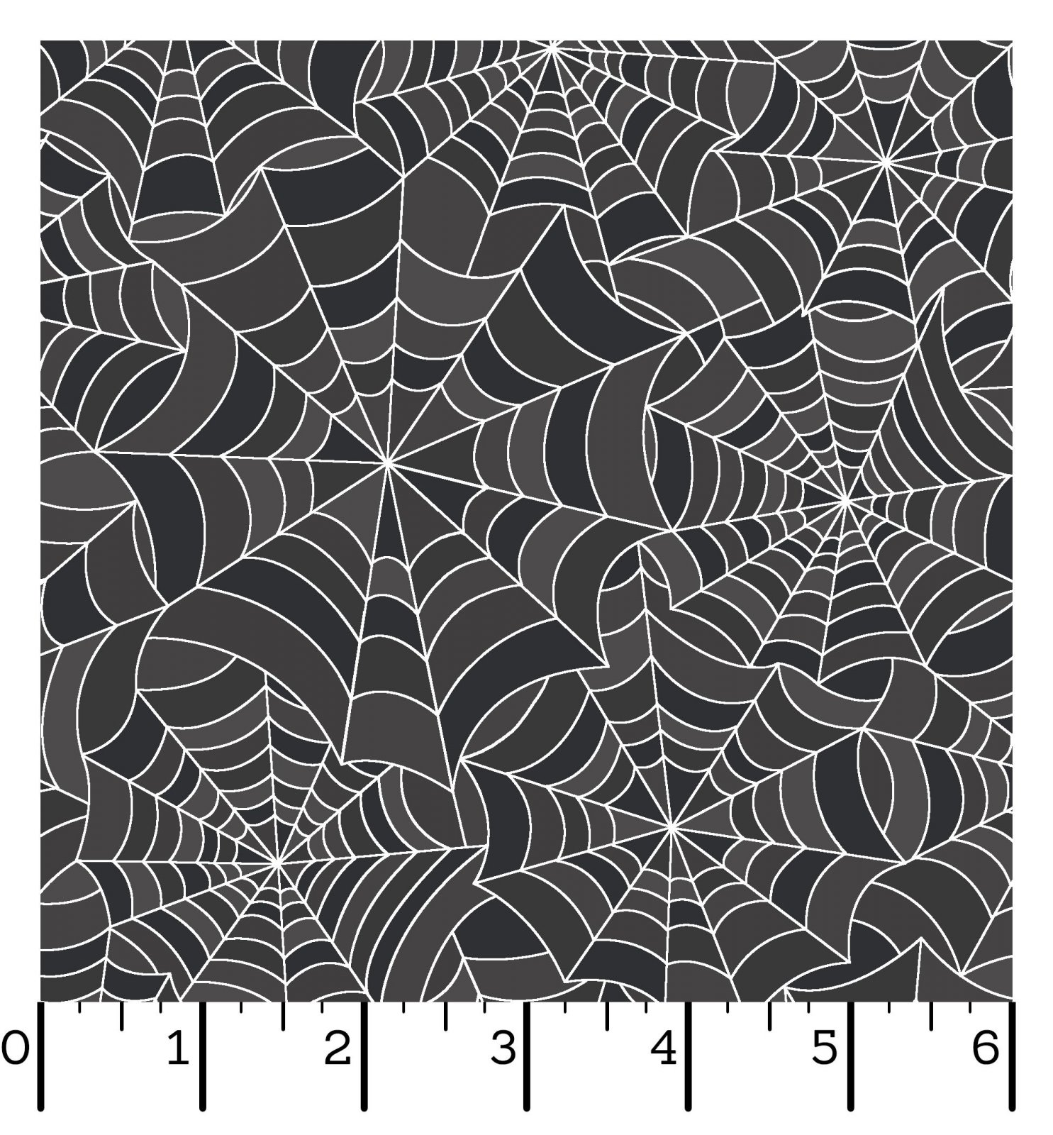 EESC-9923 K - HOMETOWN HALLOWEEN BY KIMBERBELL SPOOKY WEBS CHARCOAL - ARRIVING IN JULY 2021