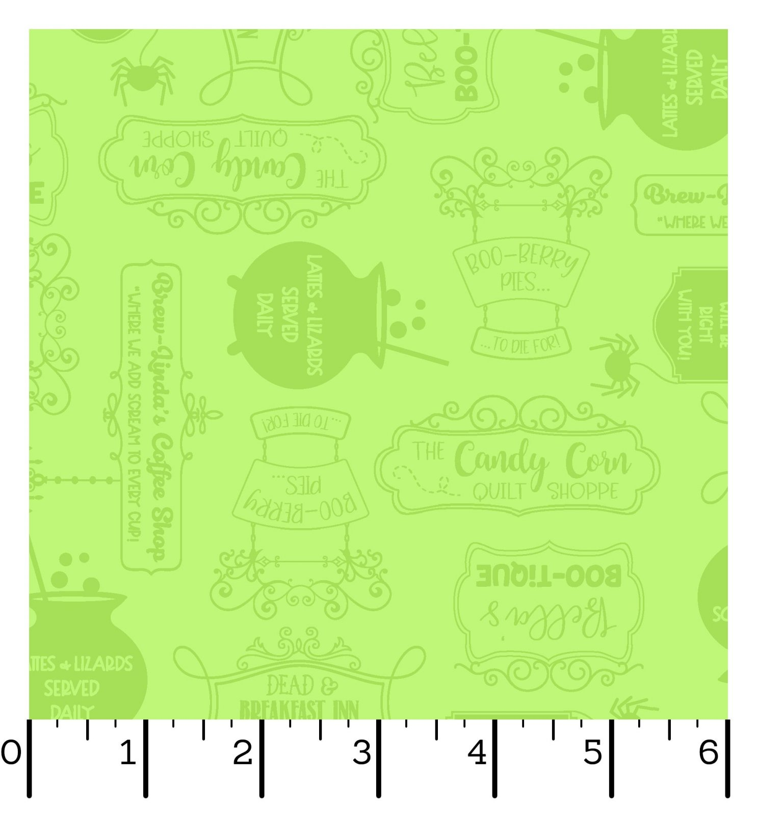 EESC-9924 G - HOMETOWN HALLOWEEN BY KIMBERBELL SHOP SIGNS GREEN - ARRIVING IN JULY 2021