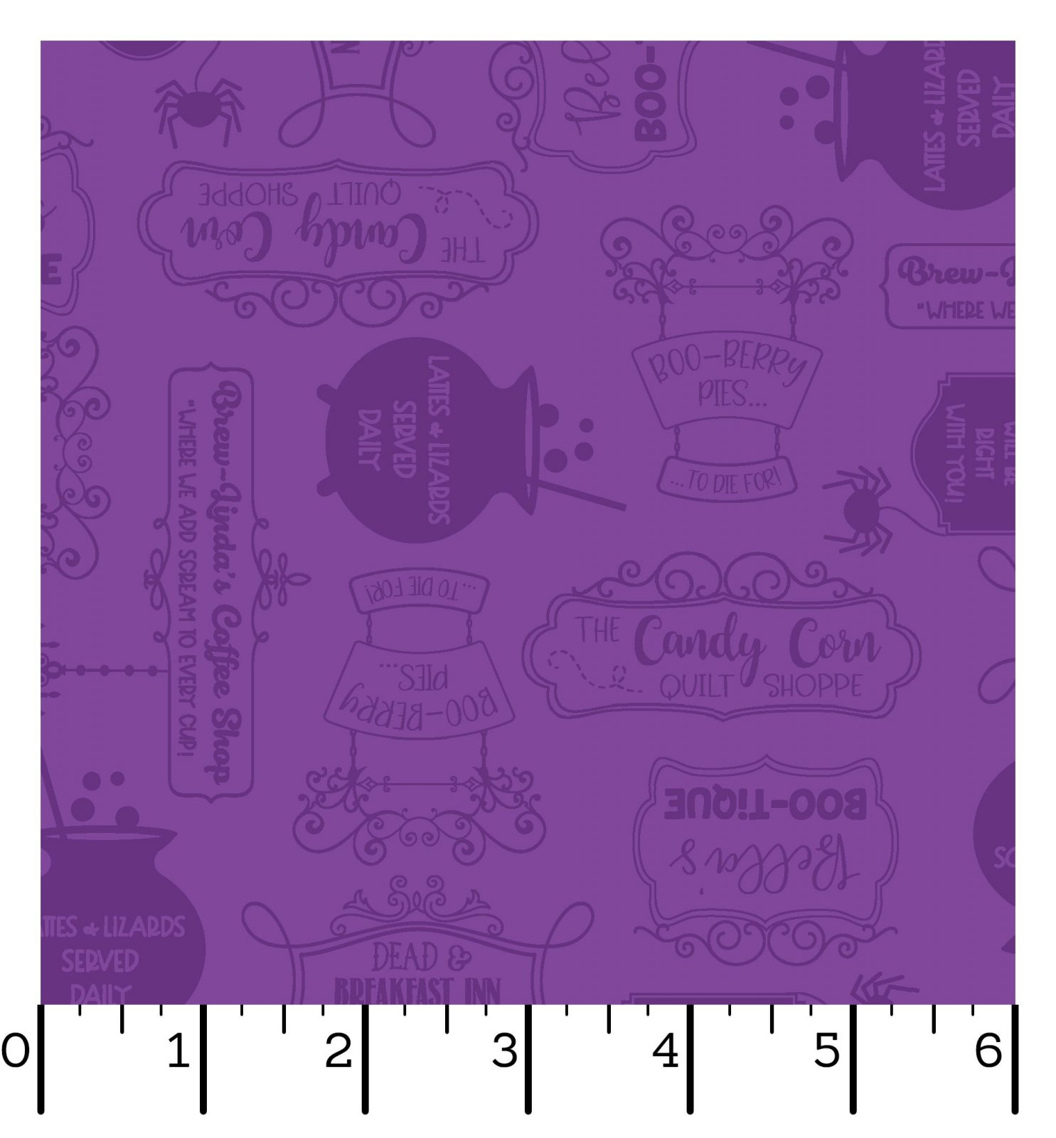 EESC-9924 V - HOMETOWN HALLOWEEN BY KIMBERBELL SHOP SIGNS PURPLE - ARRIVING IN JULY 2021
