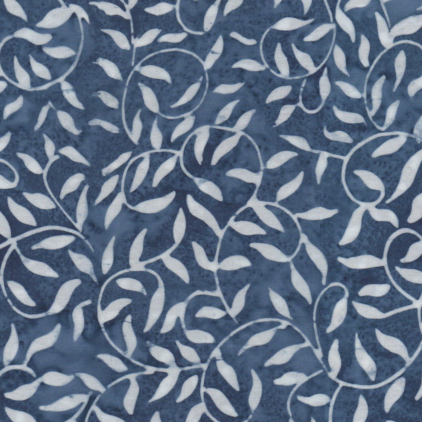 EESC-B51 NW - COLOR THERAPY BATIKS BY MAYWOOD STUDIO SCROLL-VINE NAVY/WHITE - ARRIVING DECEMBER 2020