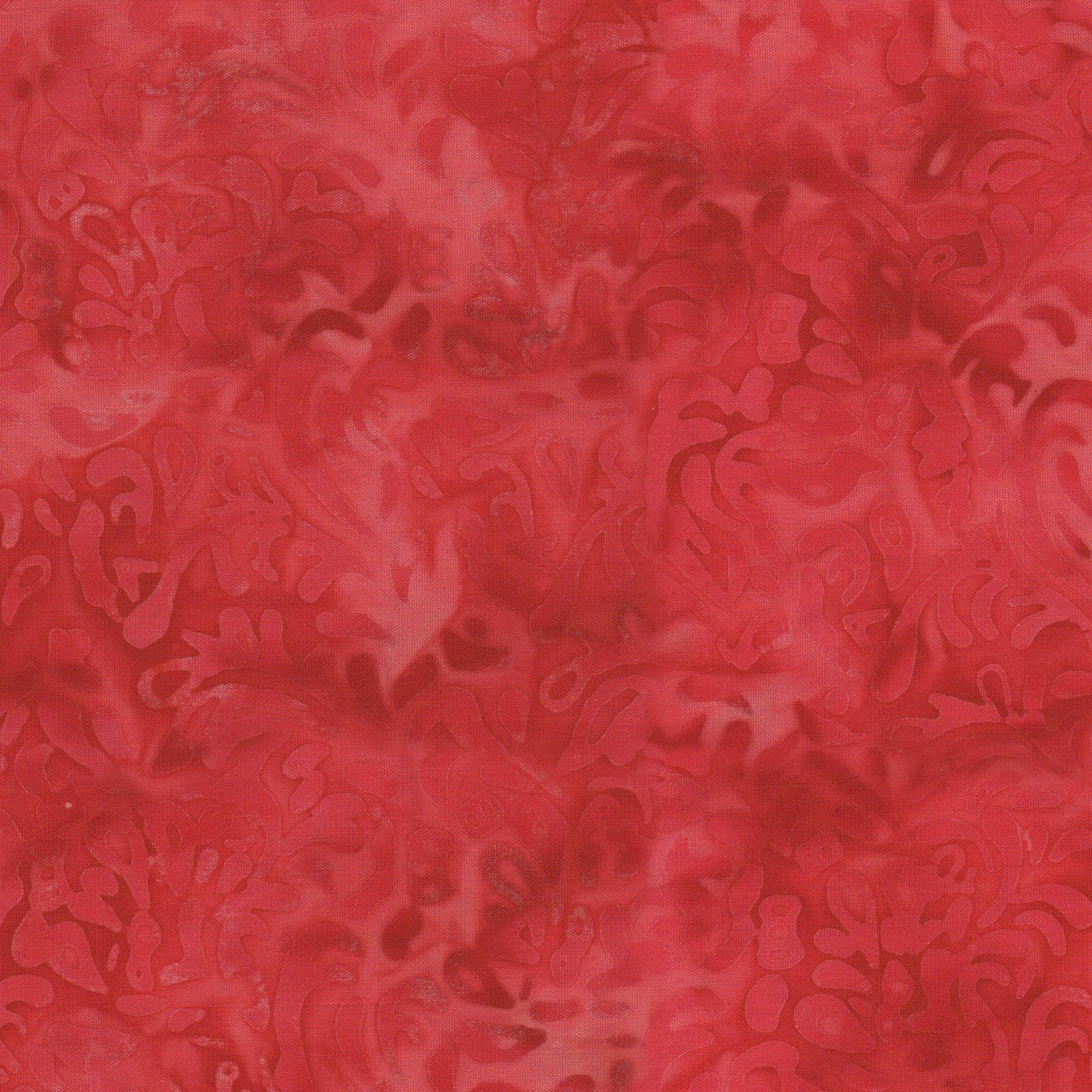 EESC-B52 R - COLOR THERAPY BATIKS BY MAYWOOD STUDIO NEW SCROLL RED - ARRIVING DECEMBER 2020