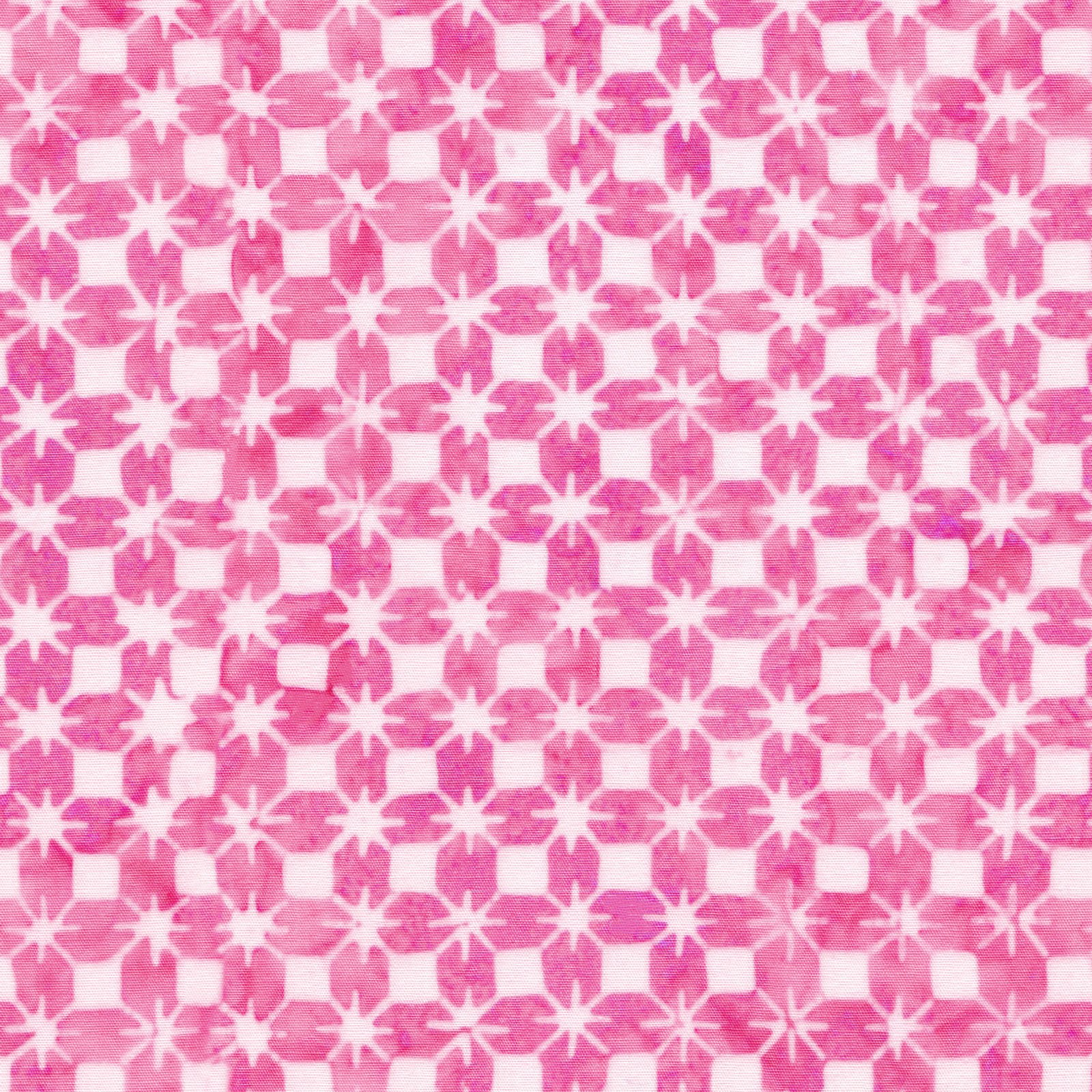 EESC-B55 PW - COLOR THERAPY BATIKS BY MAYWOOD STUDIO STARS PINK/WHITE - ARRIVING DECEMBER 2020