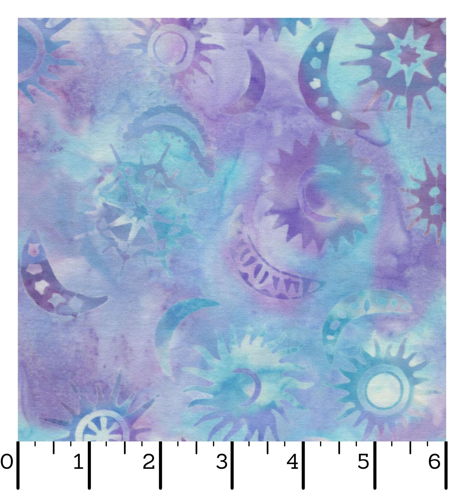 EESC-B64 BV - DUSK TO DAWN BATIKS BY MONIQUE JACOBS SUNS&MOONS TOSSED BLU/PUR - ARRIVING IN JANUARY 2022