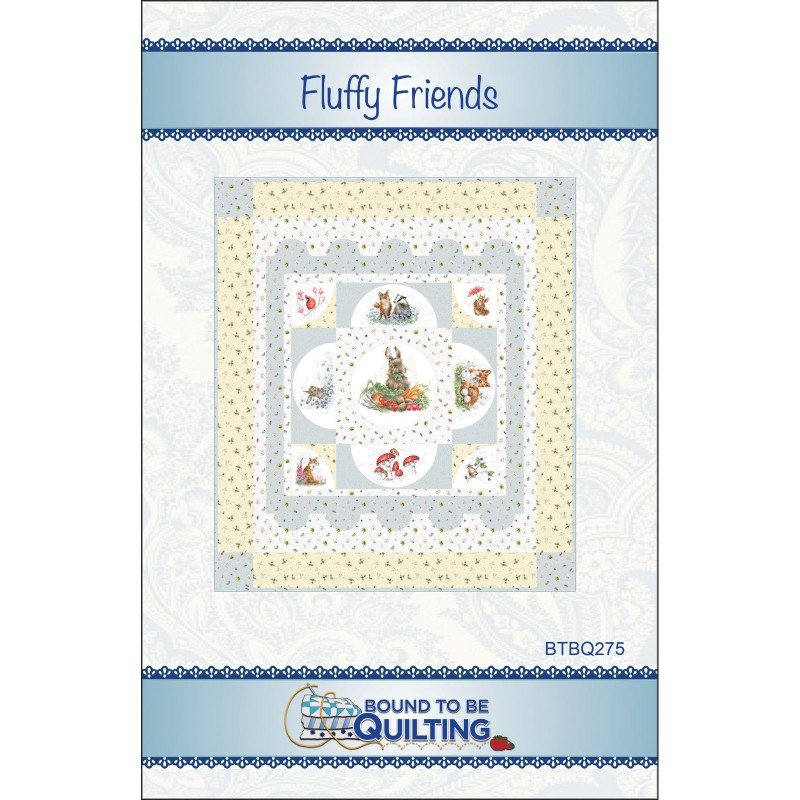 EESC-BTBQ275 - FLUFFY FRIENDS QUILT PATTERN BY BOUND TO BE QUILTING