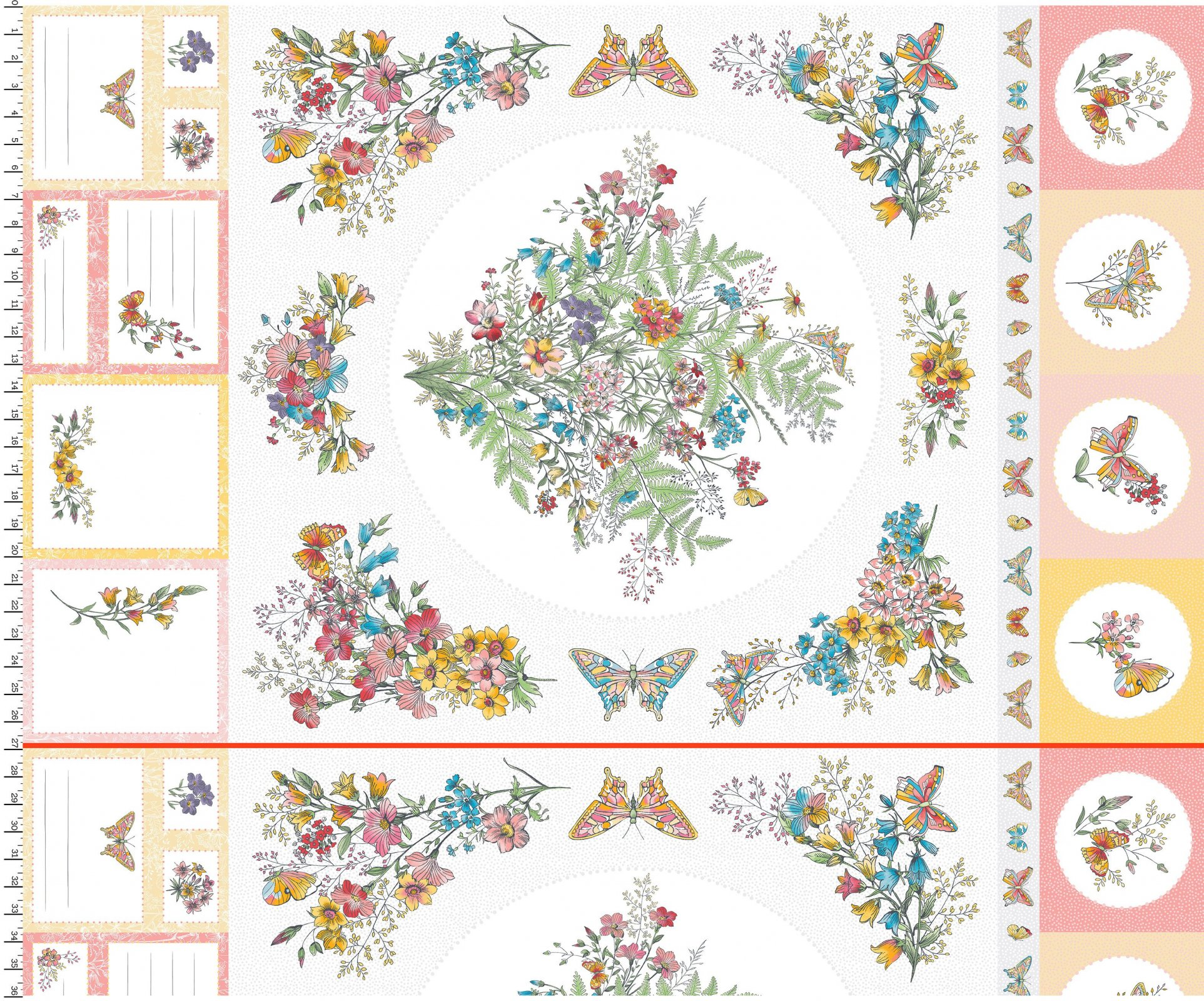 EESC-D10001 W - MEADOW EDGE BY MAYWOOD STUDIO MEADOW EDGE PANEL (27)WHITE - ARRIVING IN MAY 2021