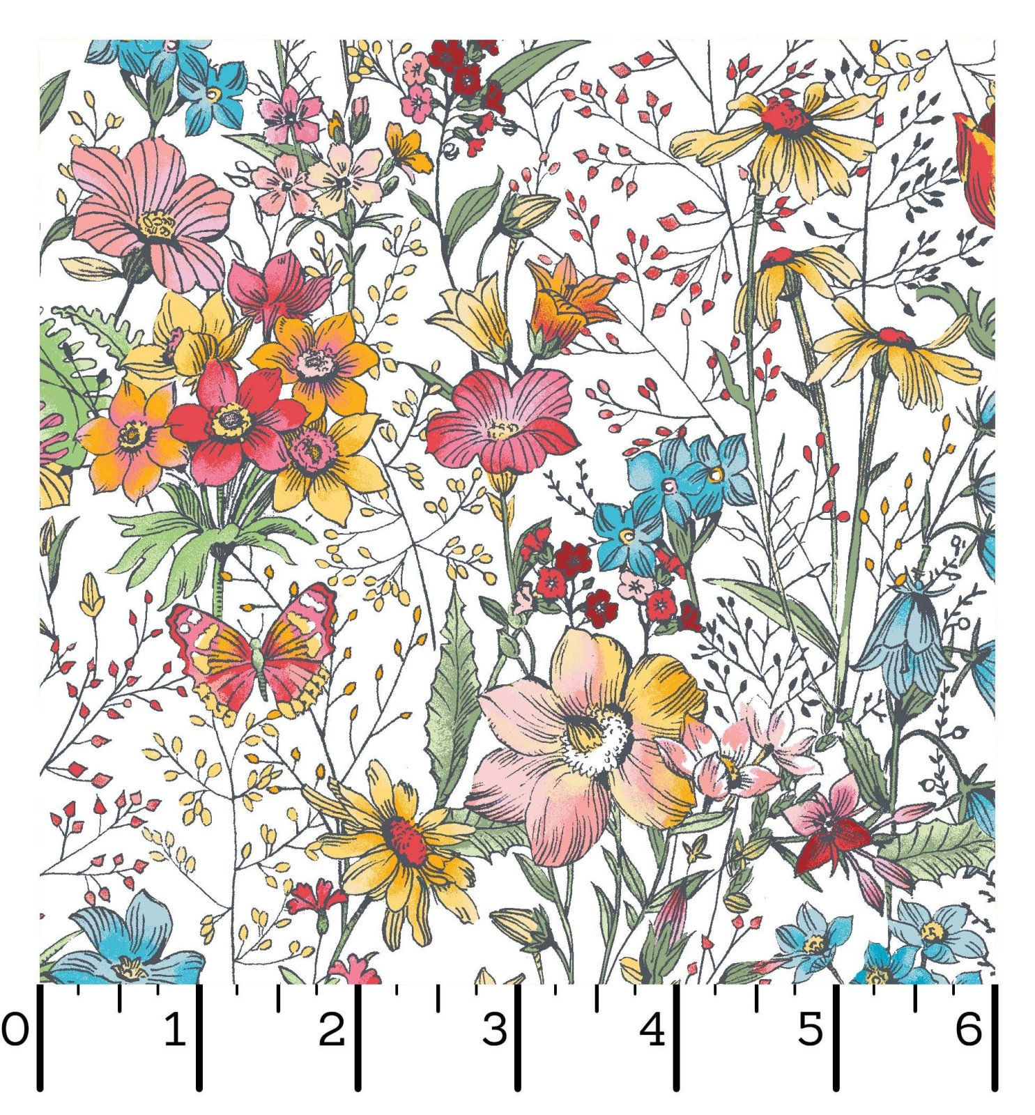 EESC-D10002 W - MEADOW EDGE BY MAYWOOD STUDIO LARGE MEADOW FLOWER WHITE - ARRIVING IN MAY 2021