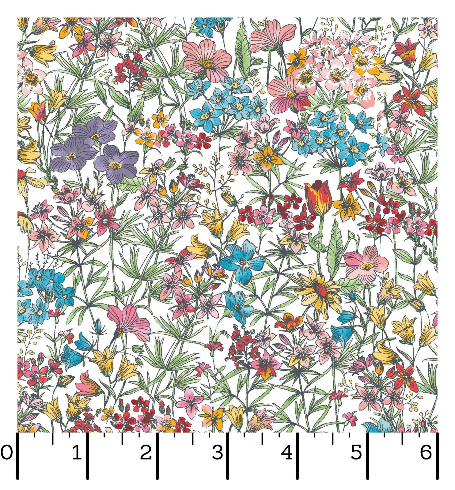 EESC-D10003 W - MEADOW EDGE BY MAYWOOD STUDIO SMALL PACKED FLOWER WHITE - ARRIVING IN MAY 2021