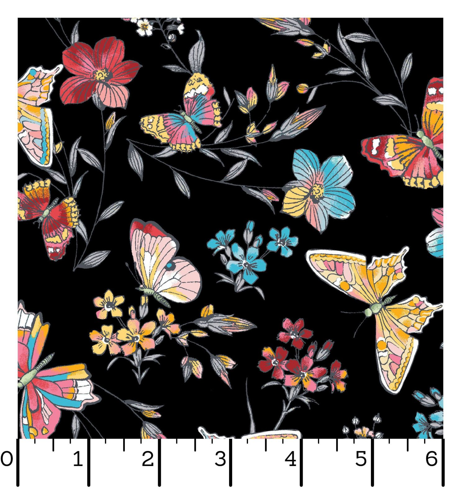 EESC-D10004 J - MEADOW EDGE BY MAYWOOD STUDIO BUTTERFLIES BLACK - ARRIVING IN MAY 2021