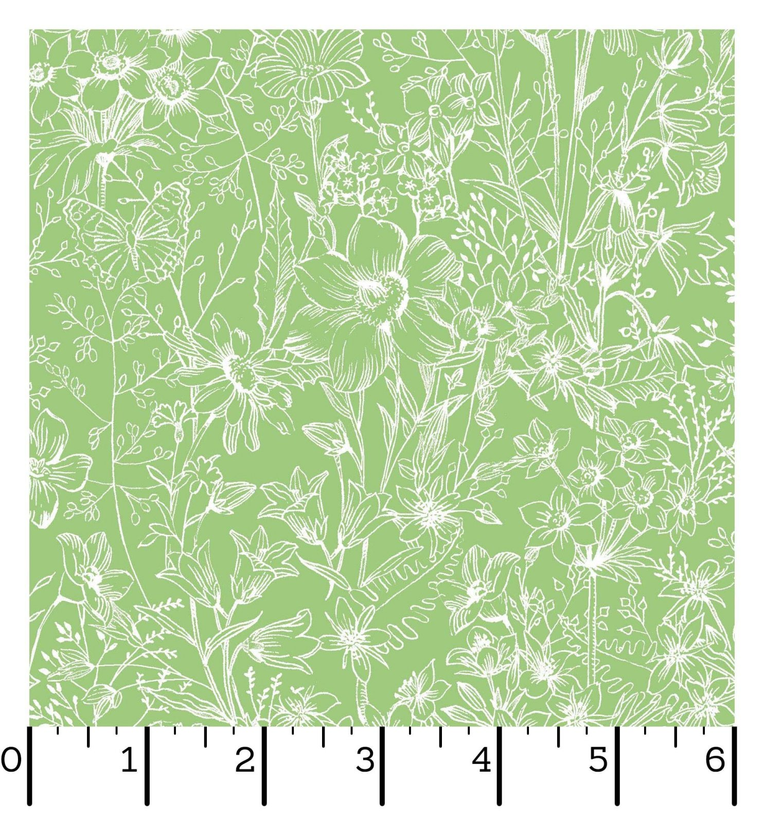 EESC-D10006 G - MEADOW EDGE BY MAYWOOD STUDIO MEADOW TOILE GREEN - ARRIVING IN MAY 2021