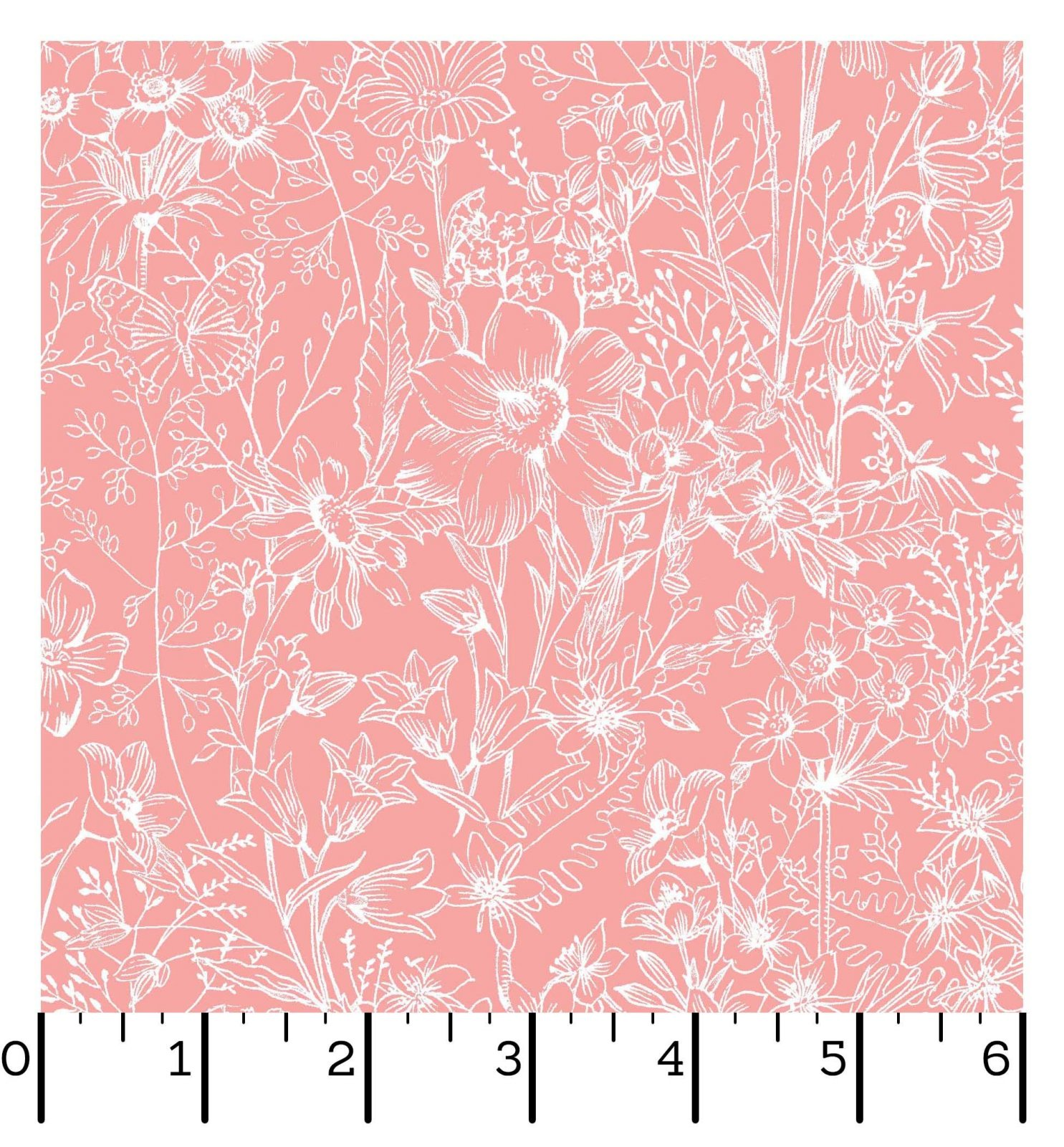 EESC-D10006 P - MEADOW EDGE BY MAYWOOD STUDIO MEADOW TOILE PEACH - ARRIVING IN MAY 2021