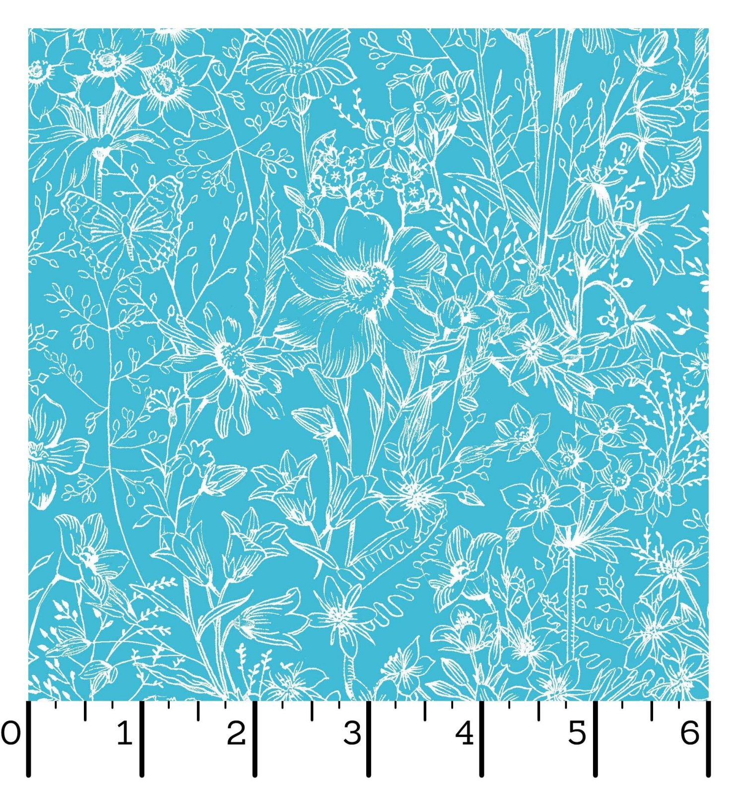EESC-D10006 Q - MEADOW EDGE BY MAYWOOD STUDIO MEADOW TOILE AQUA - ARRIVING IN MAY 2021