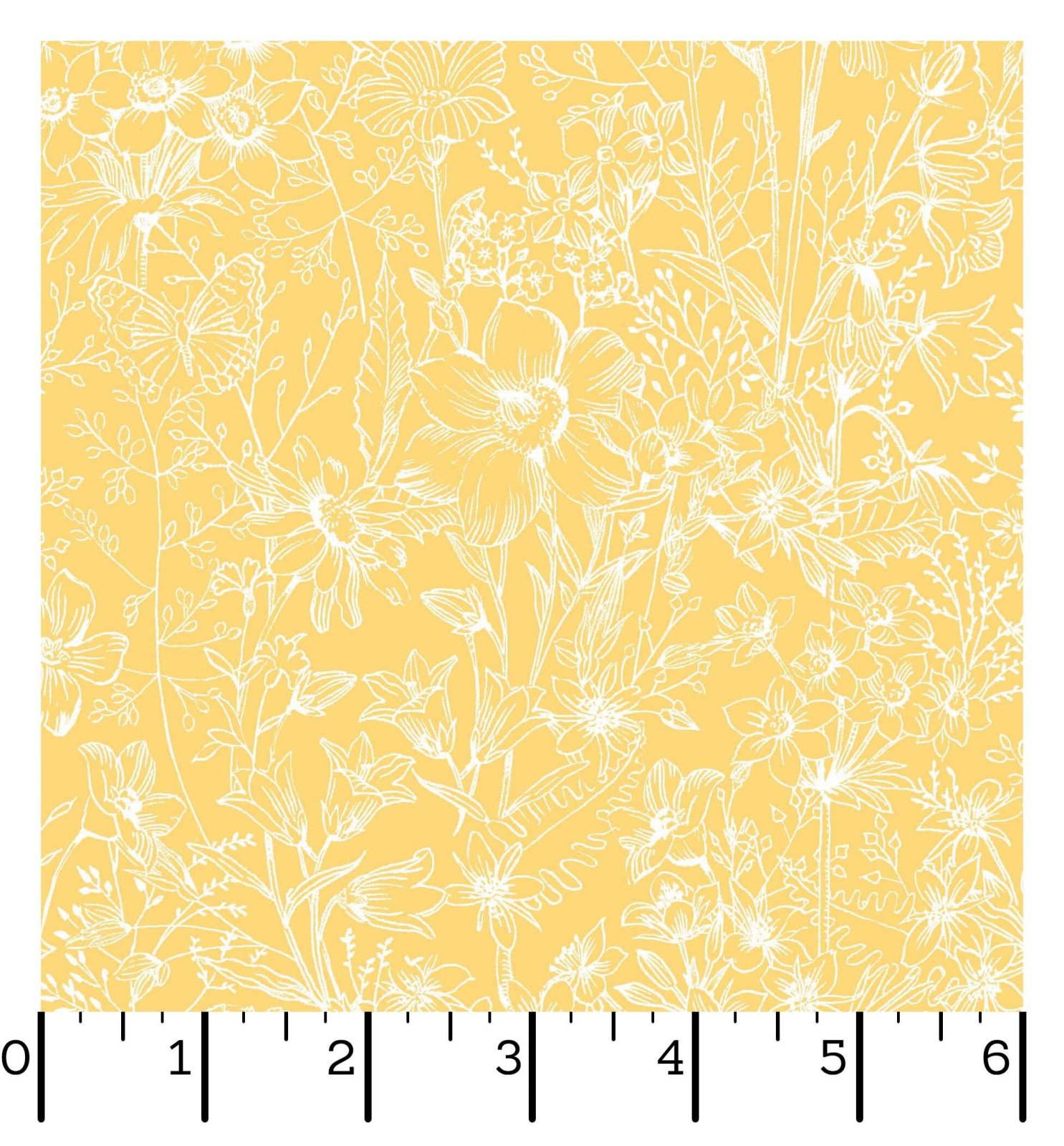 EESC-D10006 S - MEADOW EDGE BY MAYWOOD STUDIO MEADOW TOILE YELLOW - ARRIVING IN MAY 2021