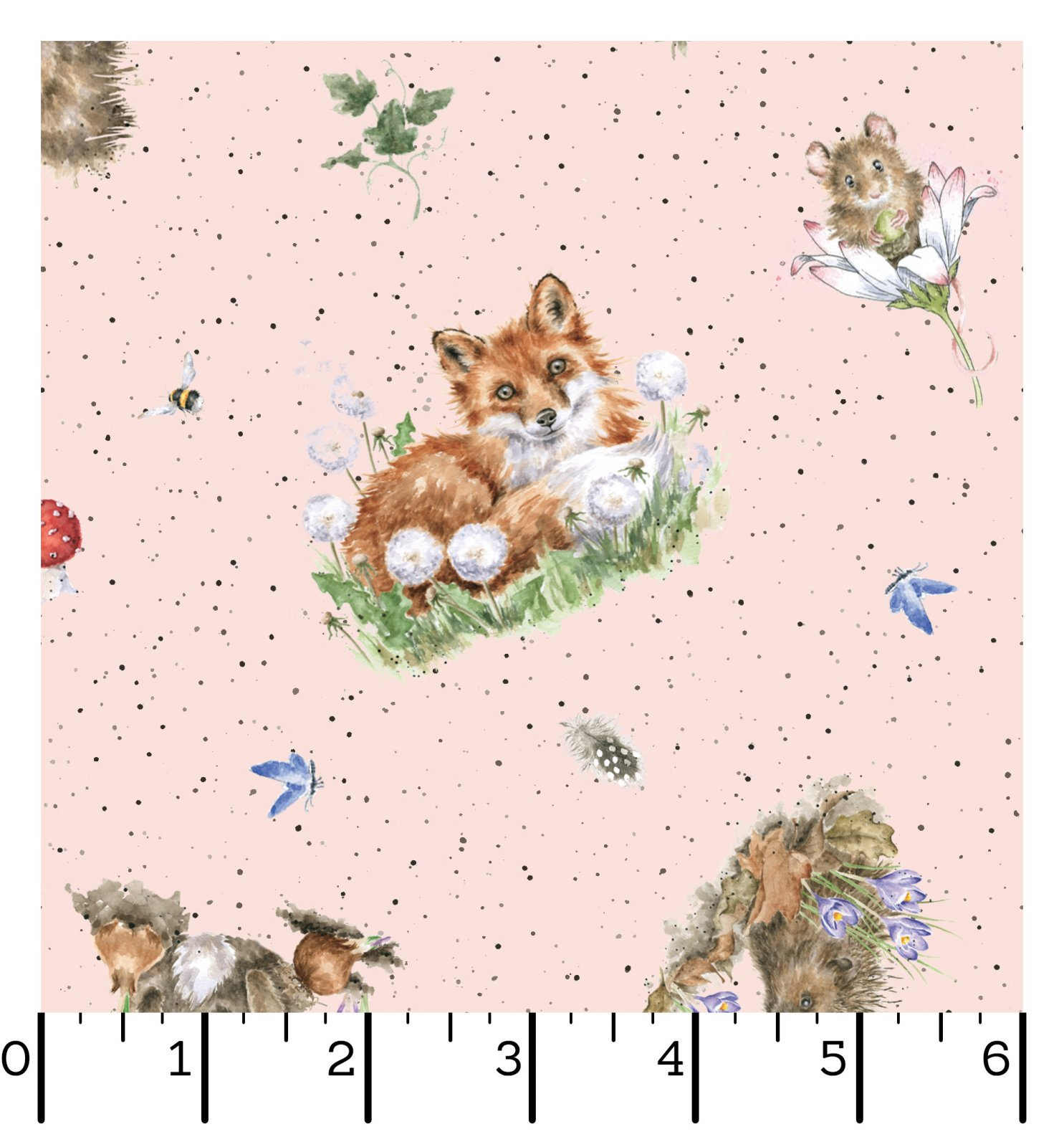 EESC-D10103 P - BRAMBLE PATCH BY HANNAH DALE TOSSED ANIMALS PINK - ARRIVING IN NOVEMBER 2021