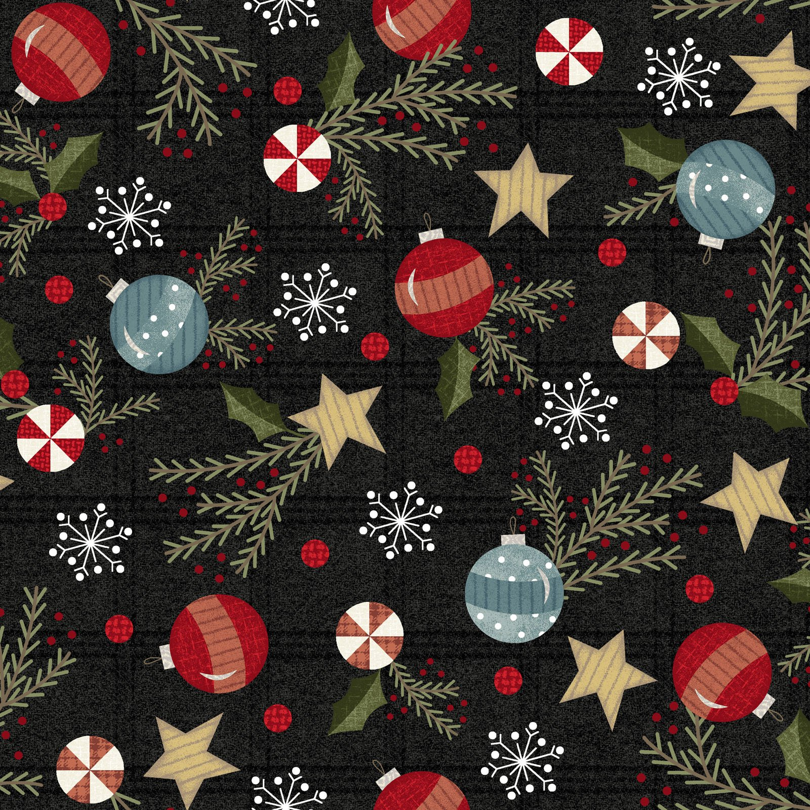 EESC-F9934 JK - SNOWDAYS FLANNEL BY BONNIE SULLIVAN TRIMMINGS CHARCOAL - ARRIVING IN JULY 2021