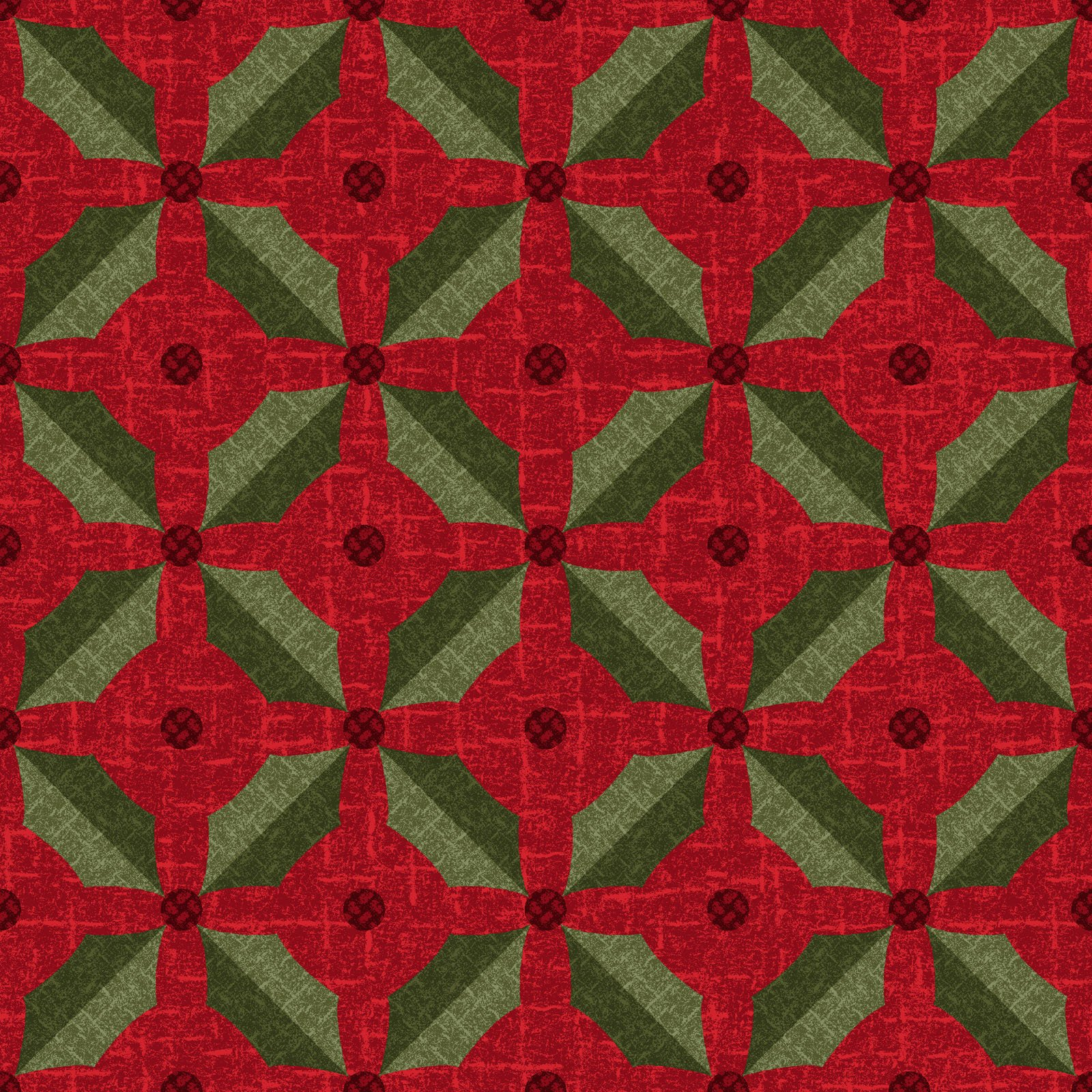 EESC-F9935 R - SNOWDAYS FLANNEL BY BONNIE SULLIVAN HOLLY RED - ARRIVING IN JULY 2021