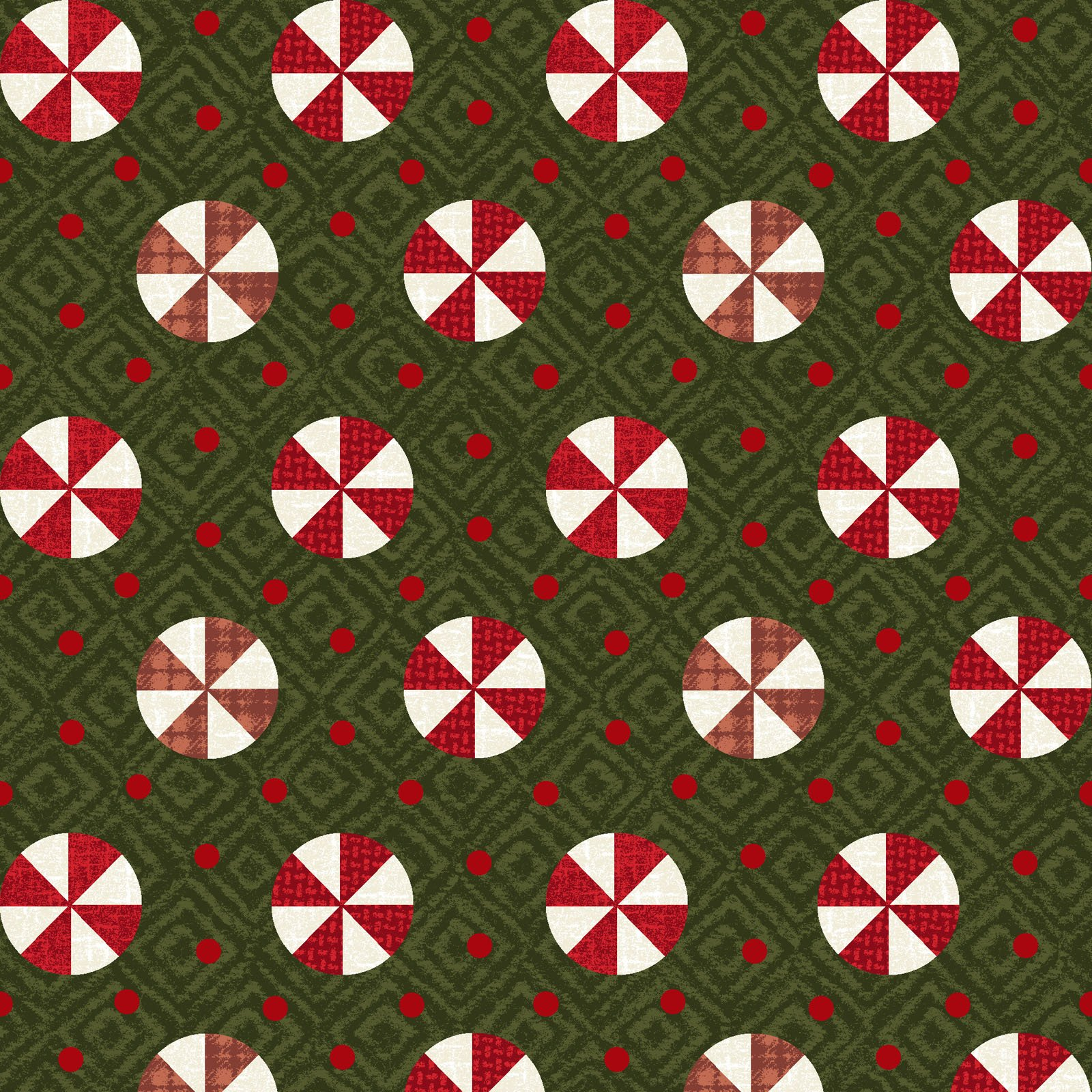 EESC-F9936 G - SNOWDAYS FLANNEL BY BONNIE SULLIVAN PEPPERMINT GREEN - ARRIVING IN JULY 2021