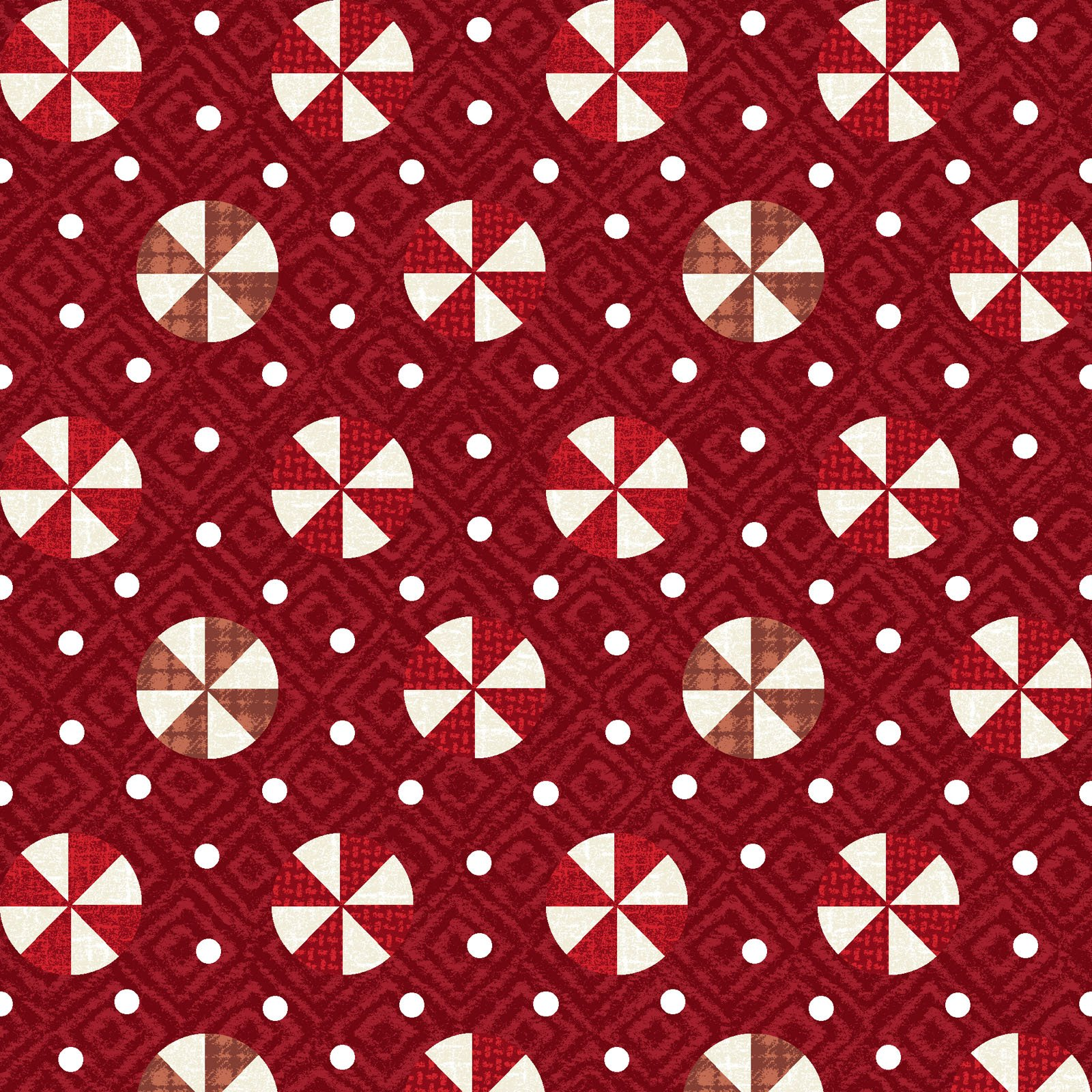 EESC-F9936 R - SNOWDAYS FLANNEL BY BONNIE SULLIVAN PEPPERMINT RED - ARRIVING IN JULY 2021