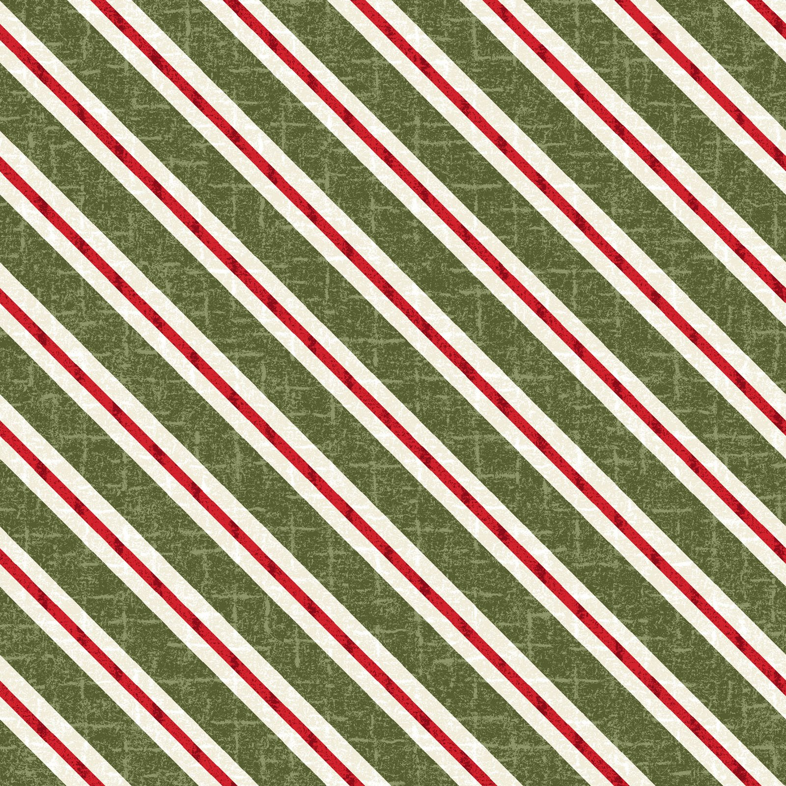 EESC-F9937 G - SNOWDAYS FLANNEL BY BONNIE SULLIVAN CANDY CANE STRIPE GREEN - ARRIVING IN JULY 2021