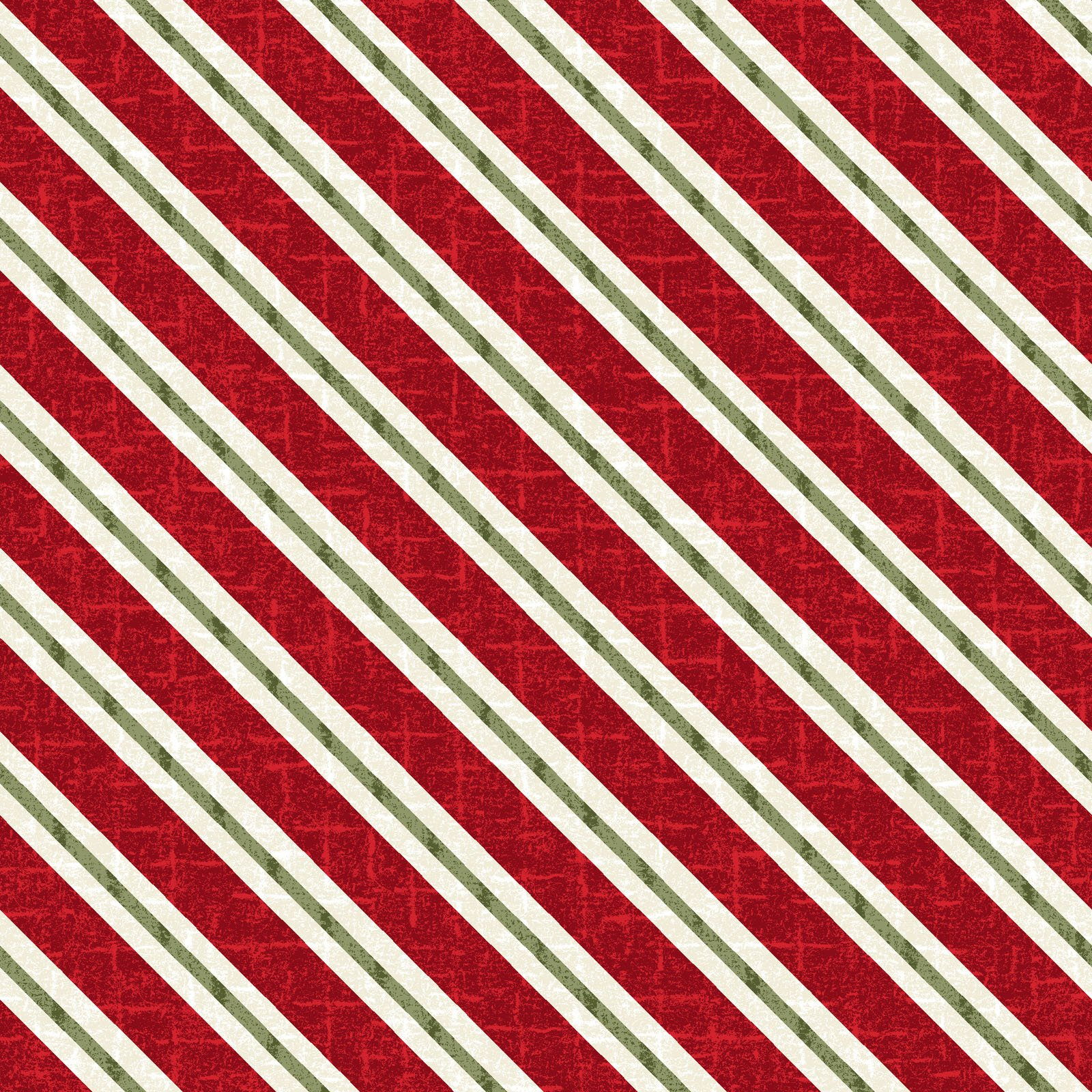 EESC-F9937 R - SNOWDAYS FLANNEL BY BONNIE SULLIVAN CANDY CANE STRIPE RED - ARRIVING IN JULY 2021