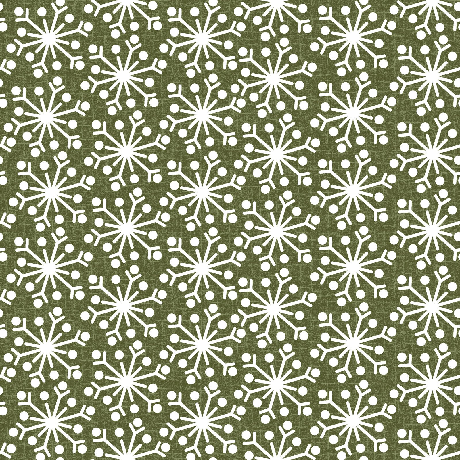 EESC-F9938 G - SNOWDAYS FLANNEL BY BONNIE SULLIVAN SNOWFLAKE GREEN - ARRIVING IN JULY 2021
