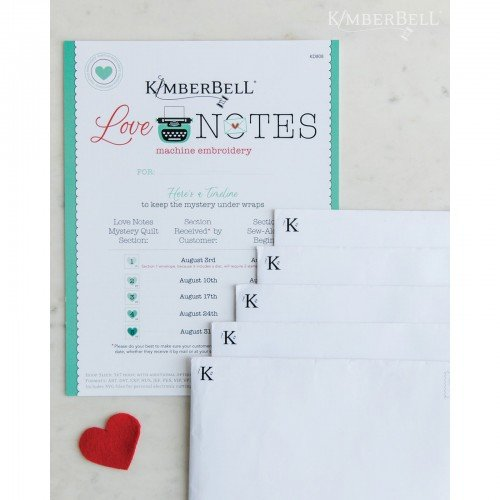 EESC-KID808 - LOVE NOTES MYSTERY QUILT - EMBROIDERY CD BY KIMBERBELL