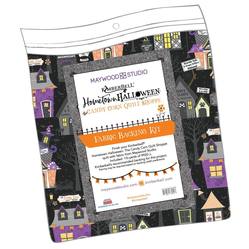 EESC-KITMASBACKHT - HOMETOWN HALLOWEEN - CANDY CORN QUILT SHOPPE BACKING KIT - ARRIVING IN JULY 2021