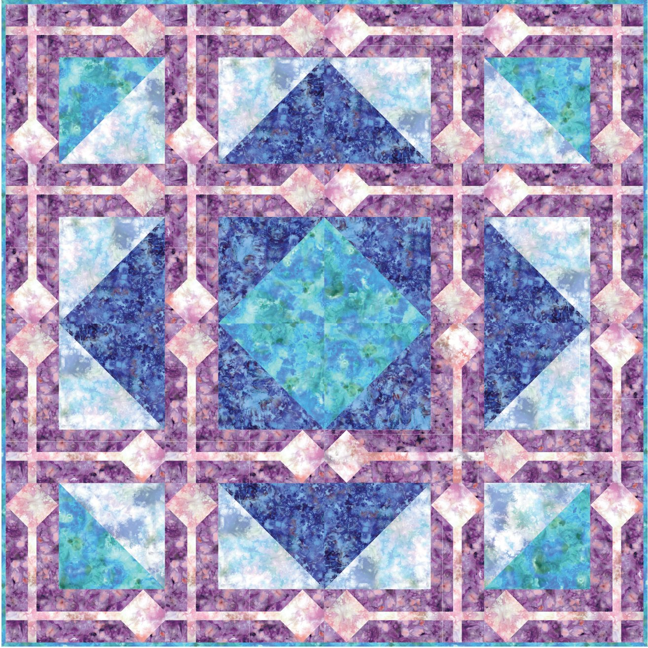 EESC-KITMASFIR - FIRE & ICE QUILT KIT 70 x 70 - ARRIVING IN OCTOBER 2021