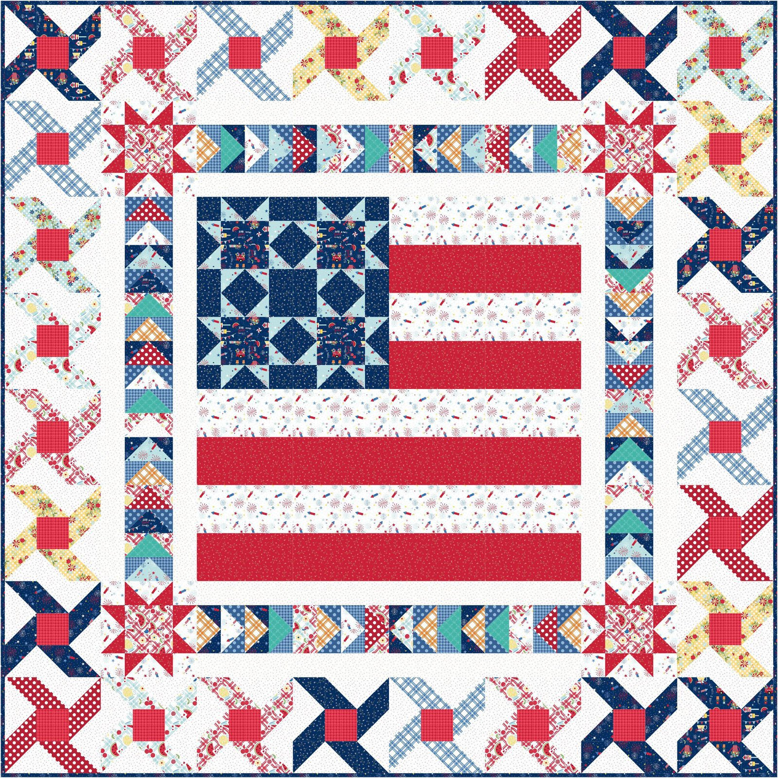 EESC-KITMASSTA - RED, WHITE & BLOOM - SMALL TOWN AMERICA KIT 48 X 48 - ARRIVING MARCH 2021