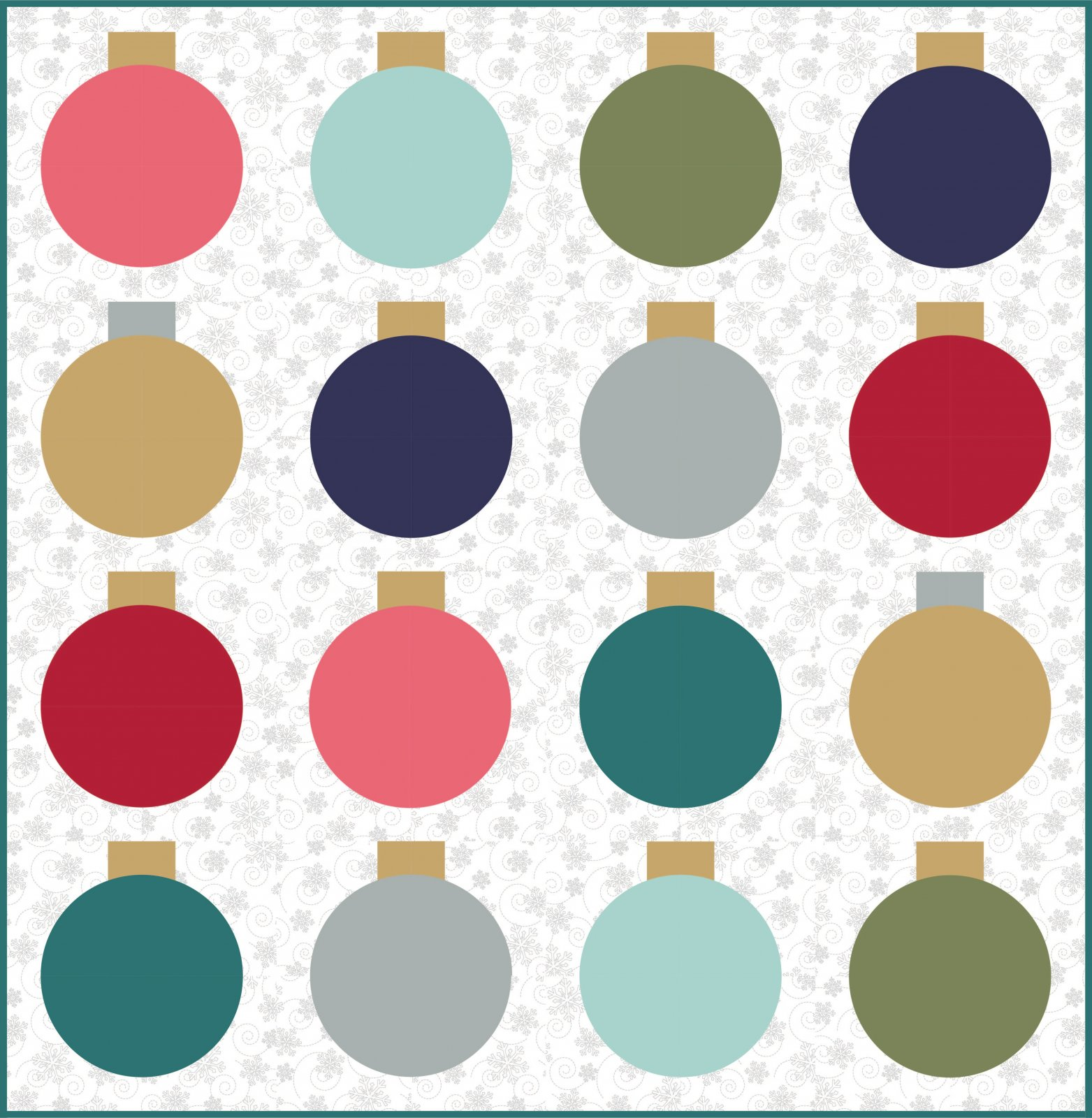 EESC-LOB114 - RETRO ORNAMENTS QUILT PATTERN BY LO & BEHOLD STITCHERY