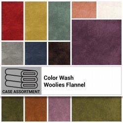 EESC-MASCWWFCA - COLOR WASH WOOLIES FLANNELCASE ASSORTMENT (21 PCS @ 10 YDS)