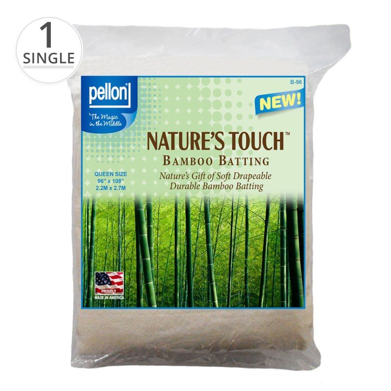 EESC-PELB96 - NATURE'S TOUCH BAMBOO BATTING W/SCRIM 96 BY PELLON - SOLD BY THE METRE