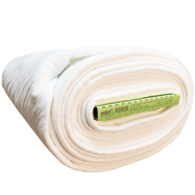 EESC-PELJ96 FR - 80/20 BLEACHED COTTON POLY BLEND WITH SCRIM 96 X 8.2MTS BY PELLON FULL ROLL