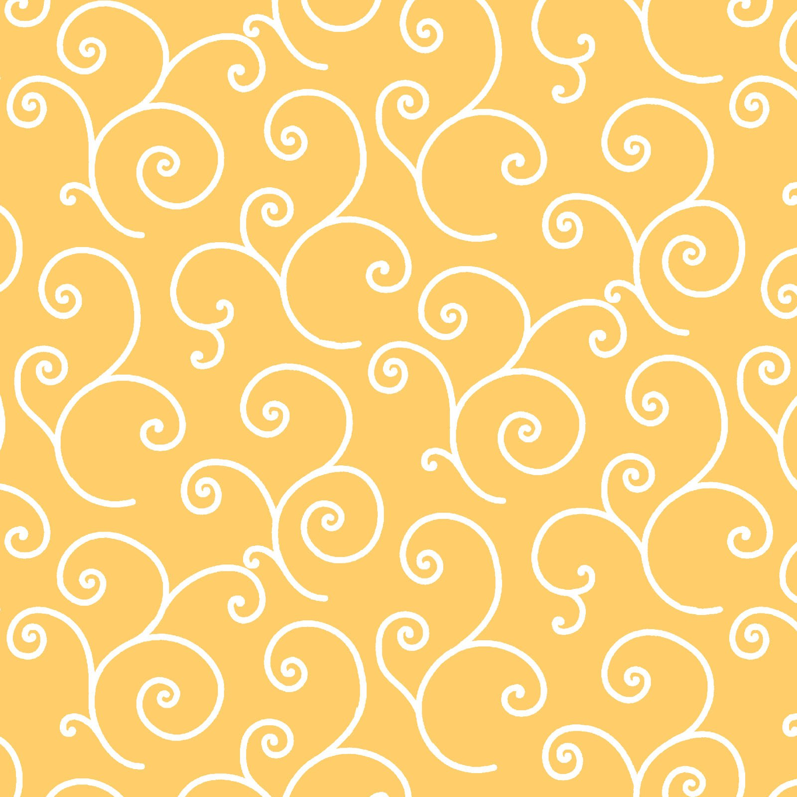 EESC-QB202 S - KIMBERBELL QUILT BACKS 108 BY KIMBERBELL SCROLL YELLOW - ARRIVING MARCH 2021
