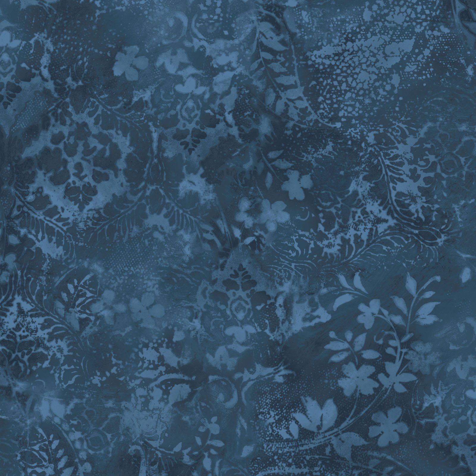 EESC-QBD105 B - BEAUTIFUL BACKING 108 VINTAGE DAMASK BY MAYWOOD DEEP BLUE - ARRIVING IN MAY 2021