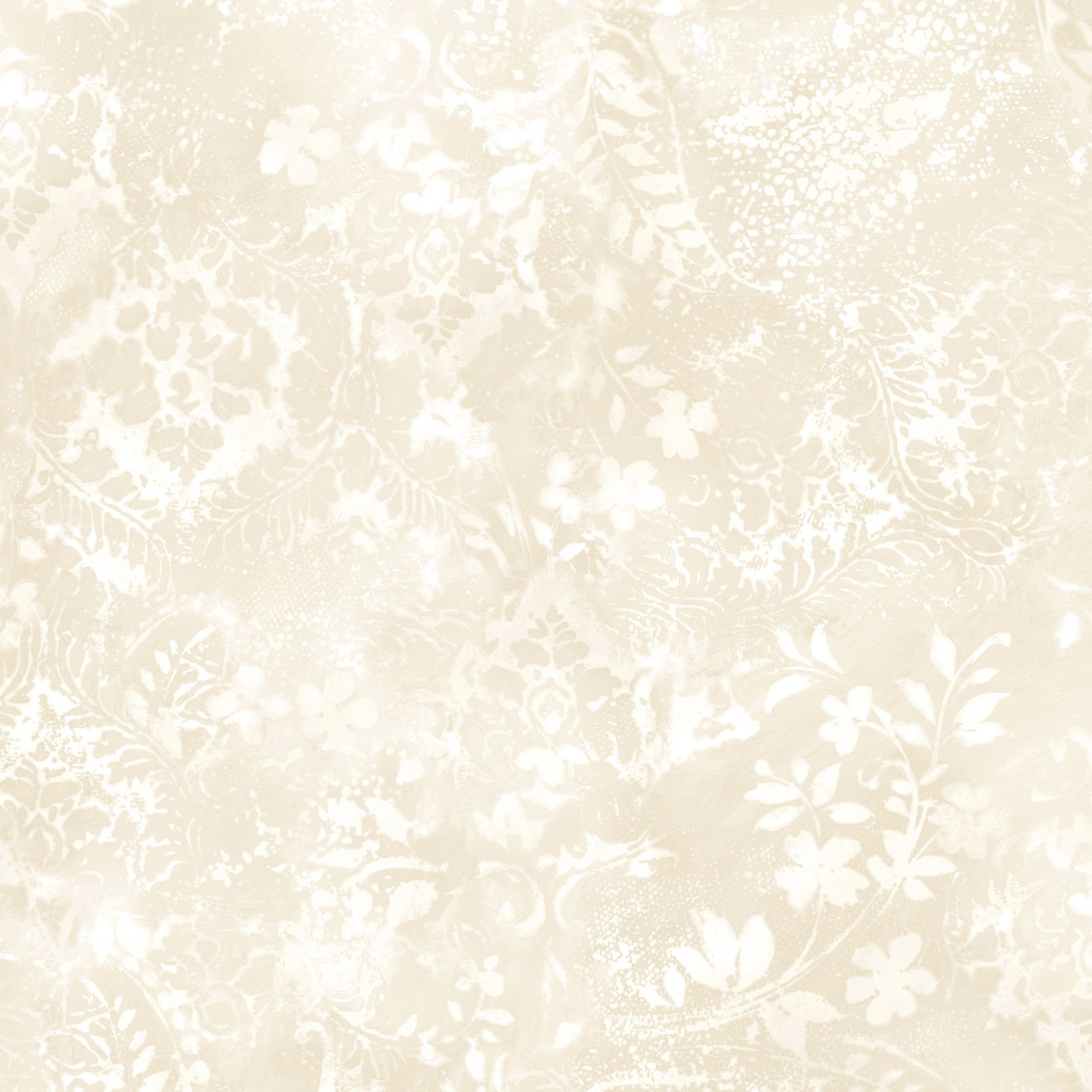 EESC-QBD105 E - BEAUTIFUL BACKING 108 VINTAGE DAMASK BY MAYWOOD CREAM - ARRIVING IN MAY 2021
