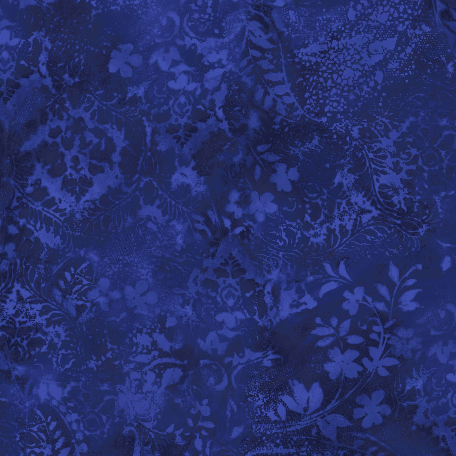 EESC-QBD105 N - BEAUTIFUL BACKING 108 VINTAGE DAMASK BY MAYWOOD COBALT - ARRIVING IN MAY 2021