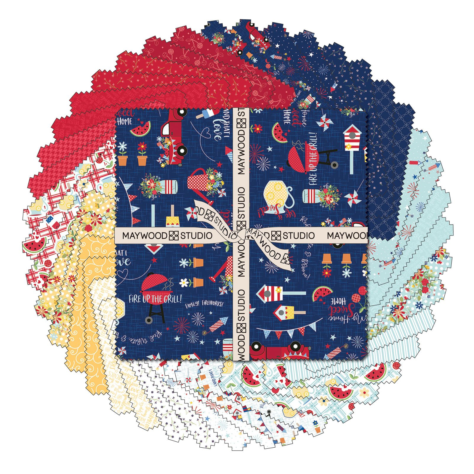 EESC-SQMASRWB - RED, WHITE & BLOOM 10 SQUARES (42PC) - ARRIVING MARCH 2021