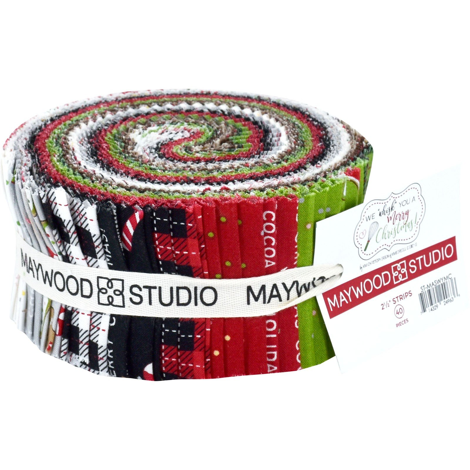 EESC-STMASWYMC - WE WHISK YOU A MERRY CHRISTMAS 2.5 STRIPS  40 PCS