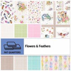 FLFE-18X22 - FLOWERS&FEATHERS FAT QUARTER BUNDLE BY P&B BOUTIQUE 12PCS+1PNL - ARRIVING IN JULY 2021