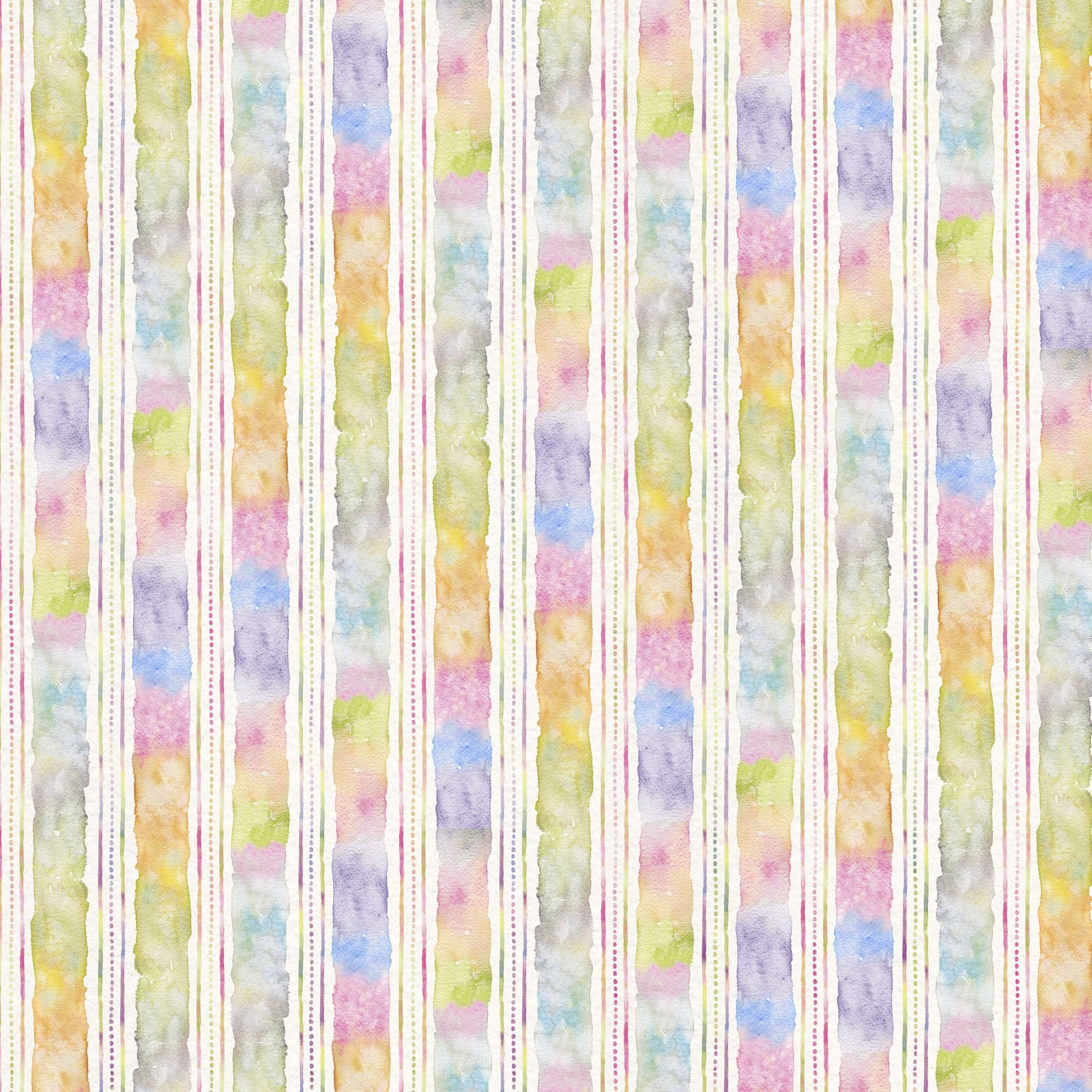 FLFE-4475 MU - FLOWERS&FEATHERS BY SILLIER THAN SALLY WATERCOLOR STRIPE MULTI - ARRIVING IN JULY 2021