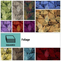 FOLI-10X10 - FOLIAGE 10 SQUARES BY P&B BOUTIQUE 42PCS